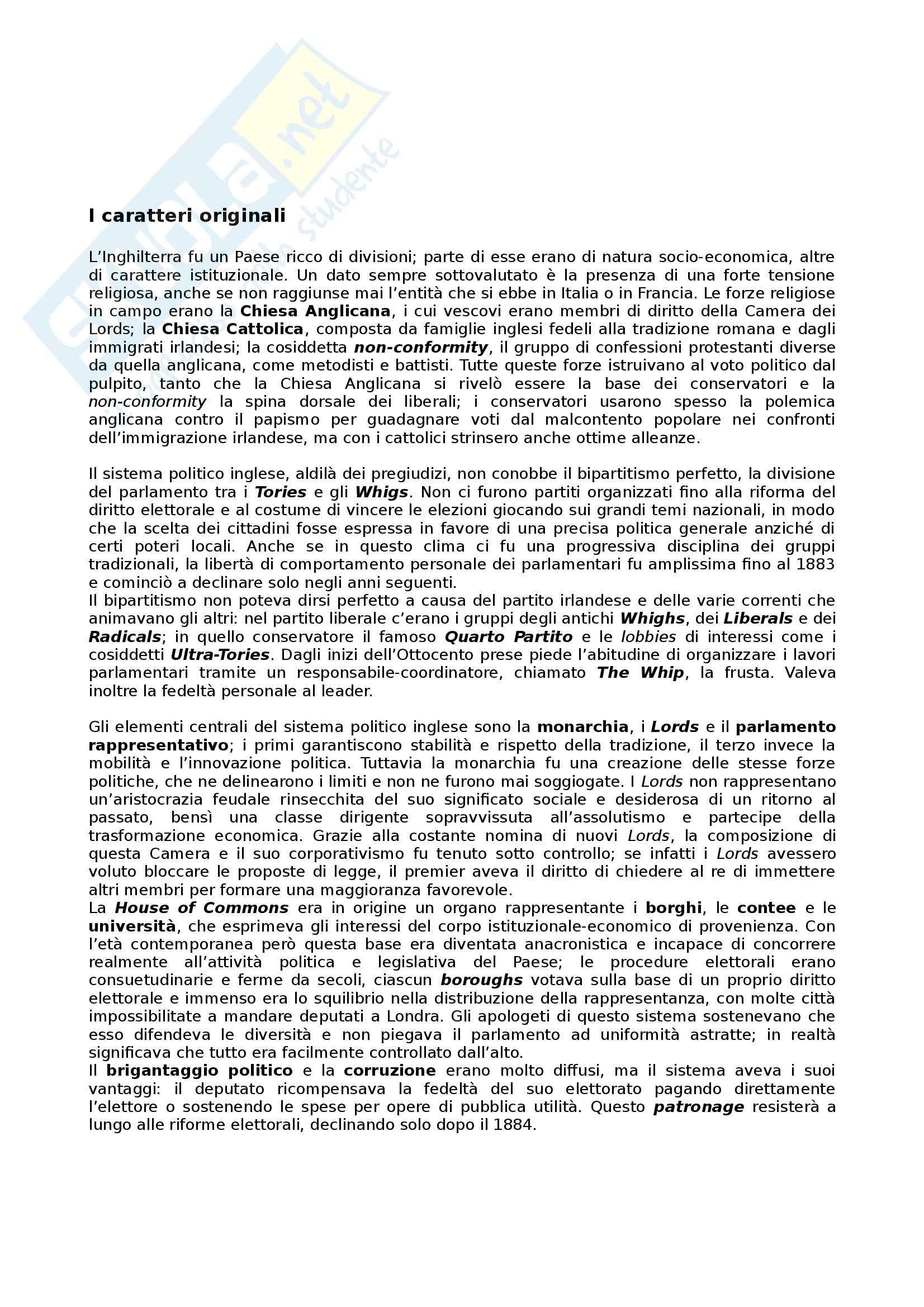 Riassunto esame Storia dei partiti politici, prof. Bartoloni, libro consigliato Partiti e sistemi politici nella Storia contemporanea, Pombeni