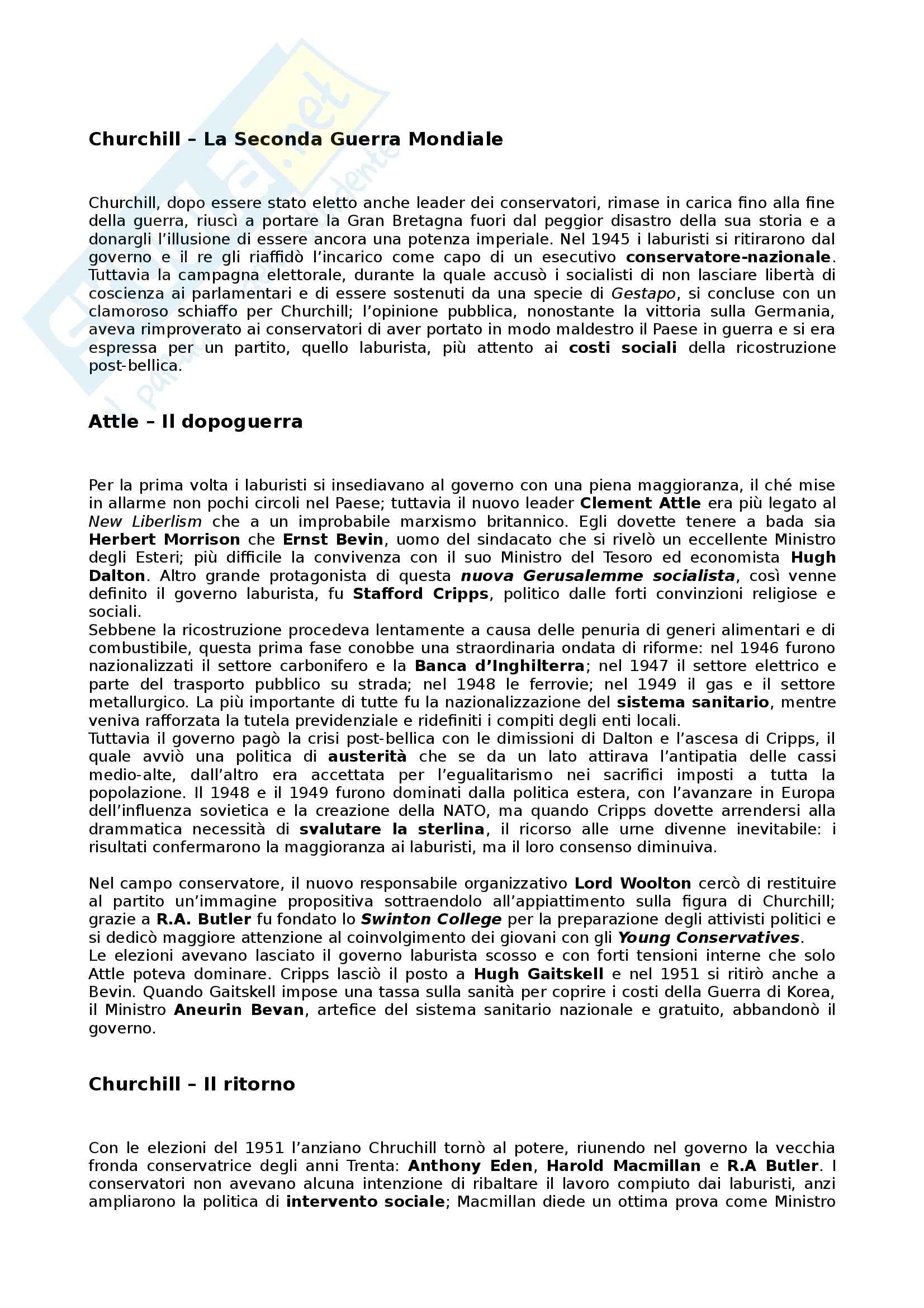Riassunto esame Storia dei partiti politici, prof. Bartoloni, libro consigliato Partiti e sistemi politici nella Storia contemporanea, Pombeni Pag. 11