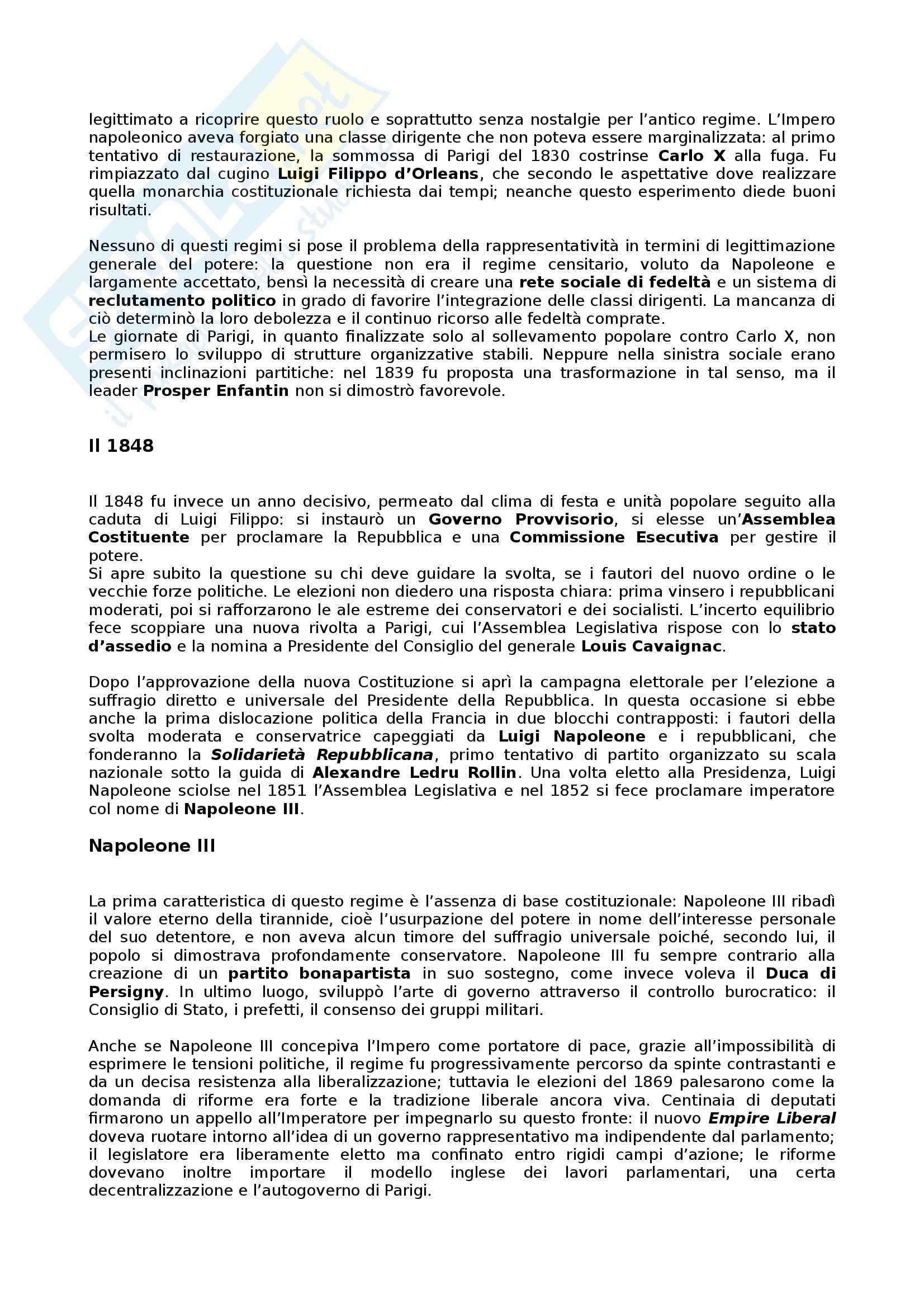 Riassunto esame Storia dei partiti politici, prof. Bartoloni, libro consigliato Partiti e sistemi politici nella Storia contemporanea, Pombeni Pag. 26
