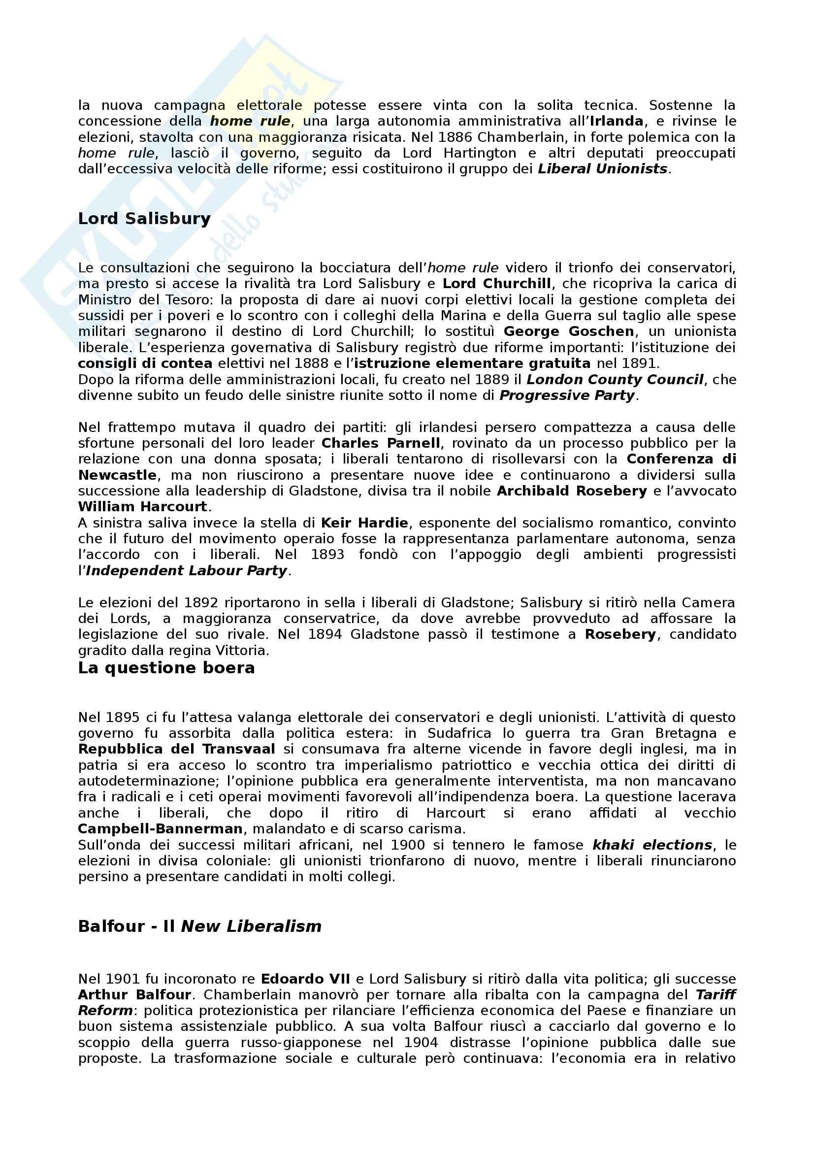Riassunto esame Storia dei partiti politici, prof. Bartoloni, libro consigliato Partiti e sistemi politici nella Storia contemporanea, Pombeni Pag. 6