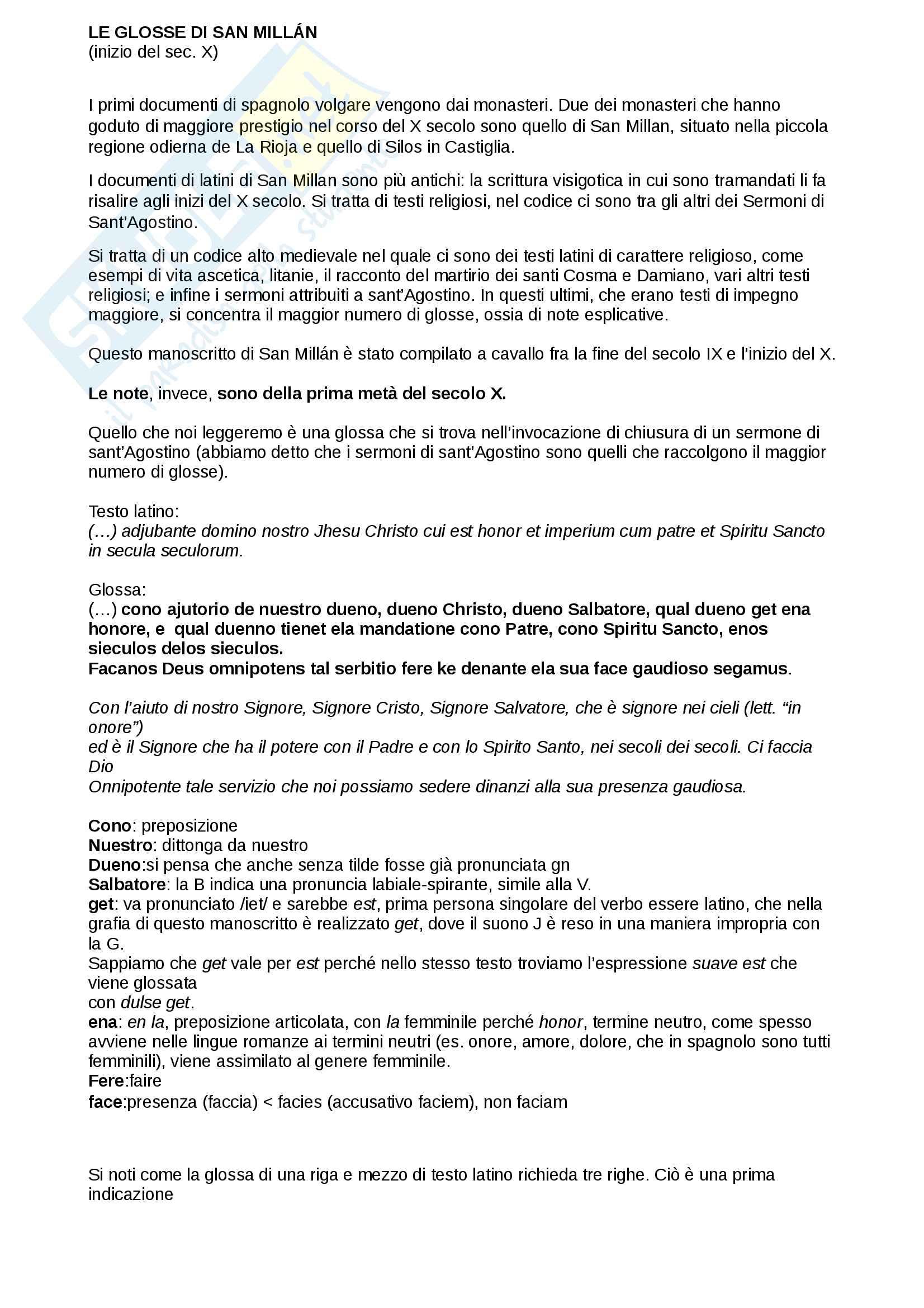 Glosse di San Millan - contesto storico e analisi linguistica