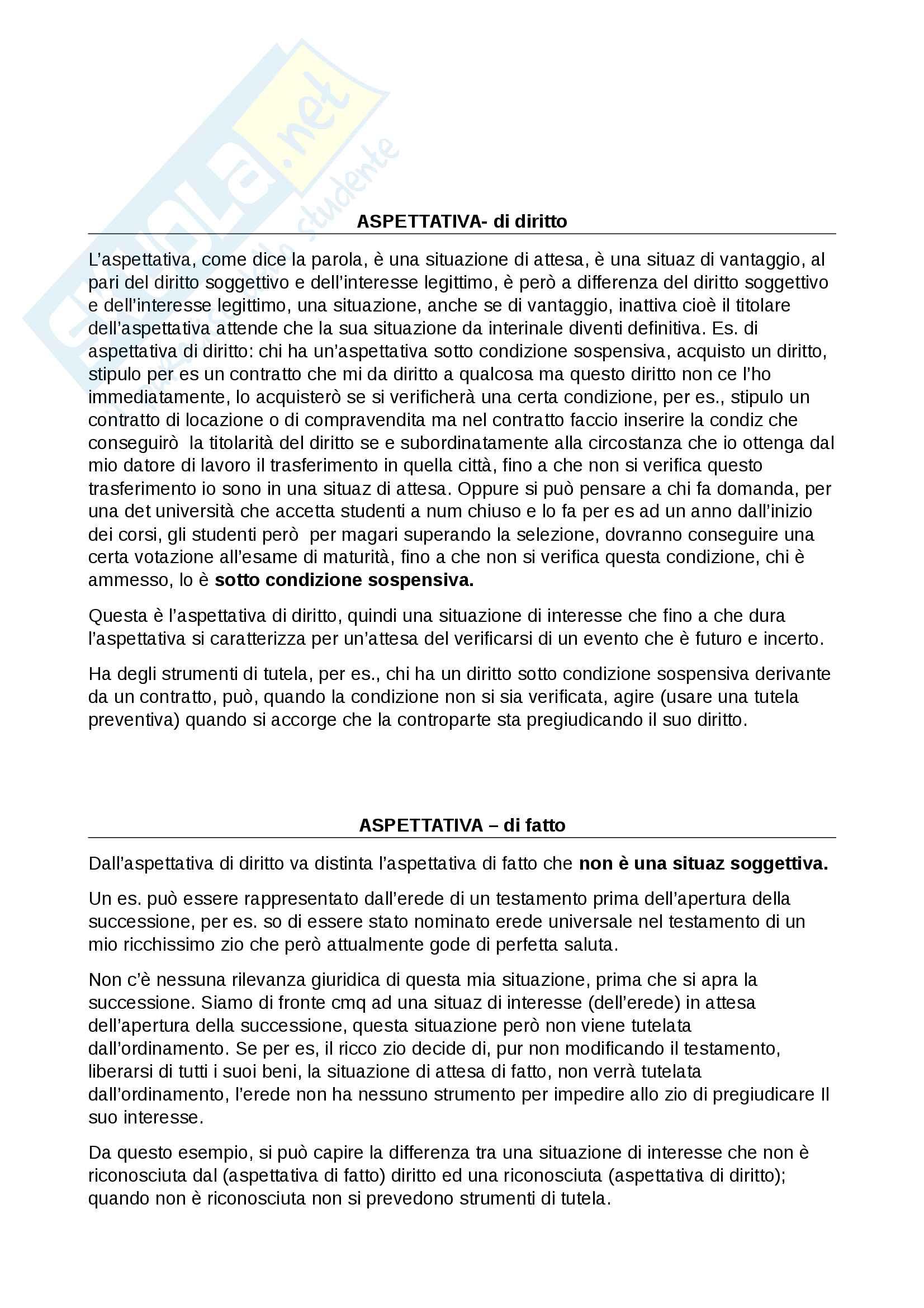 5 Situazioni giuridiche soggettive Pag. 6