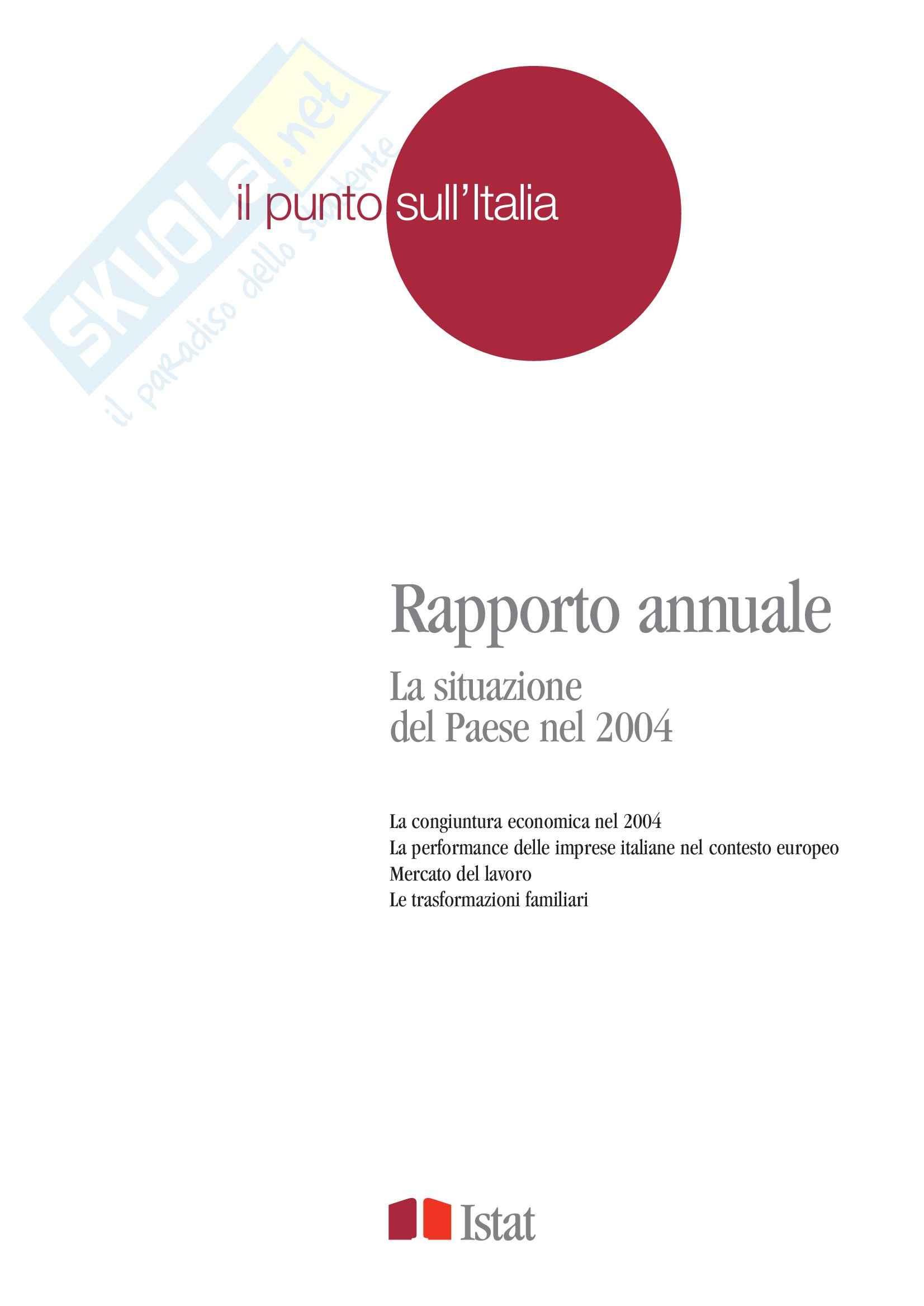 Statistica economica I - il Rapporto annuale dell'Istat 2004, cap.1