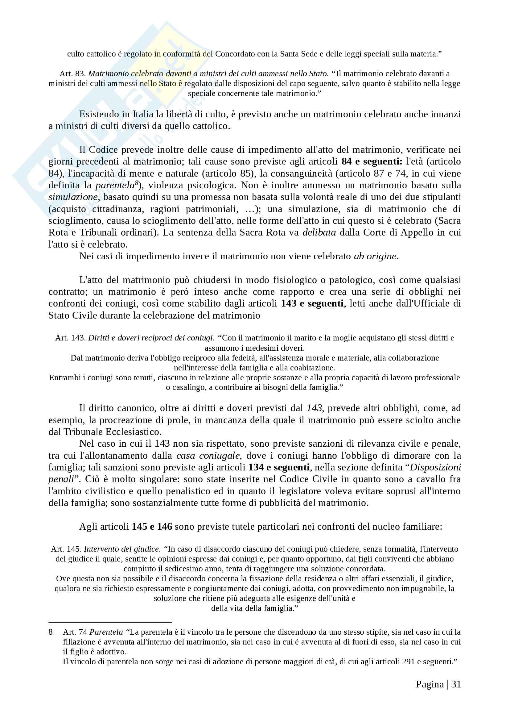Istituzioni di diritto privato I - Appunti Prof. T. Pasquino Pag. 31