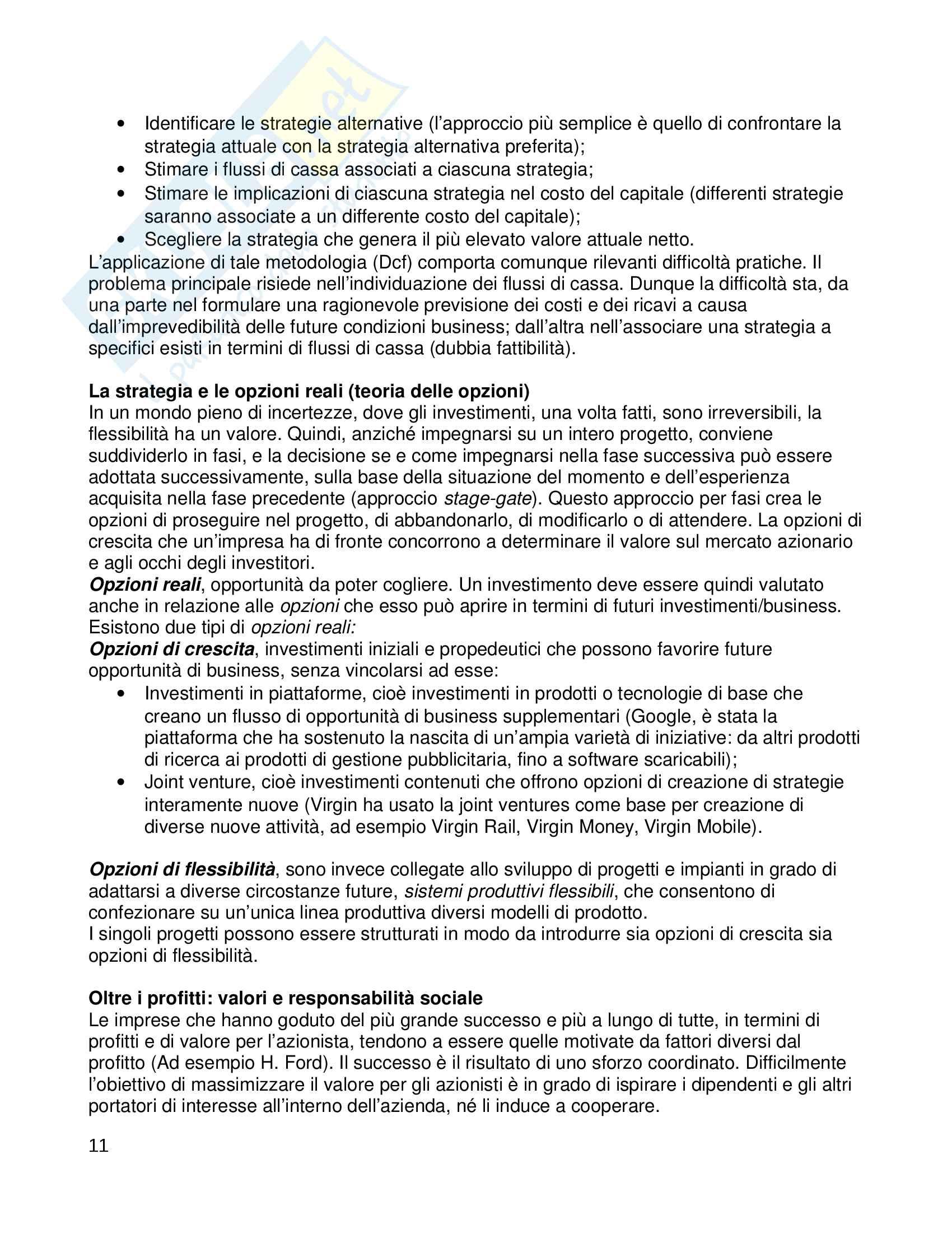 Riassunto esame Strategic Management, prof Pastore, libro consigliato L'analisi strategica per le decisioni aziendali, Grant Pag. 11