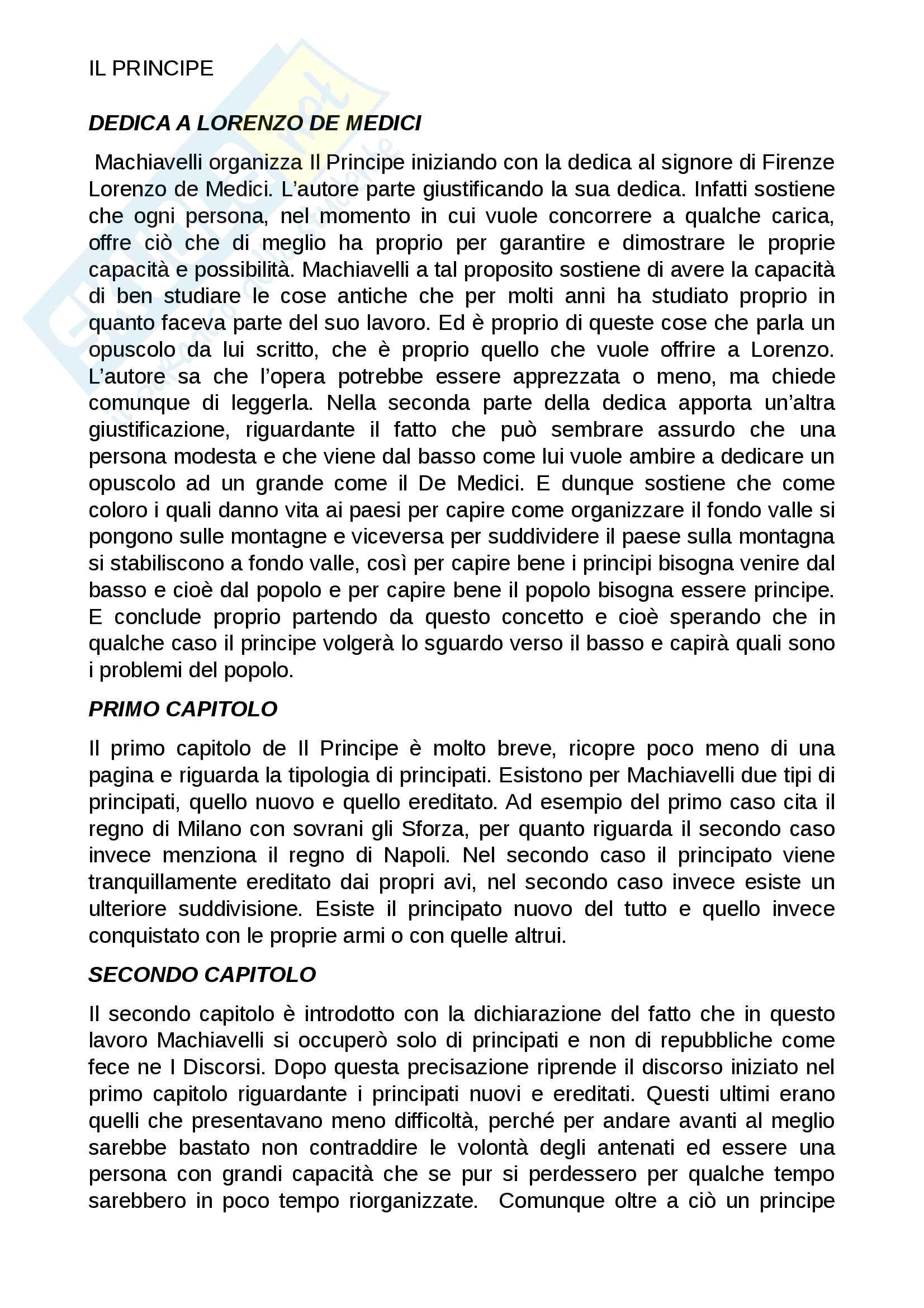 Dedica a Lorenzo De Medici