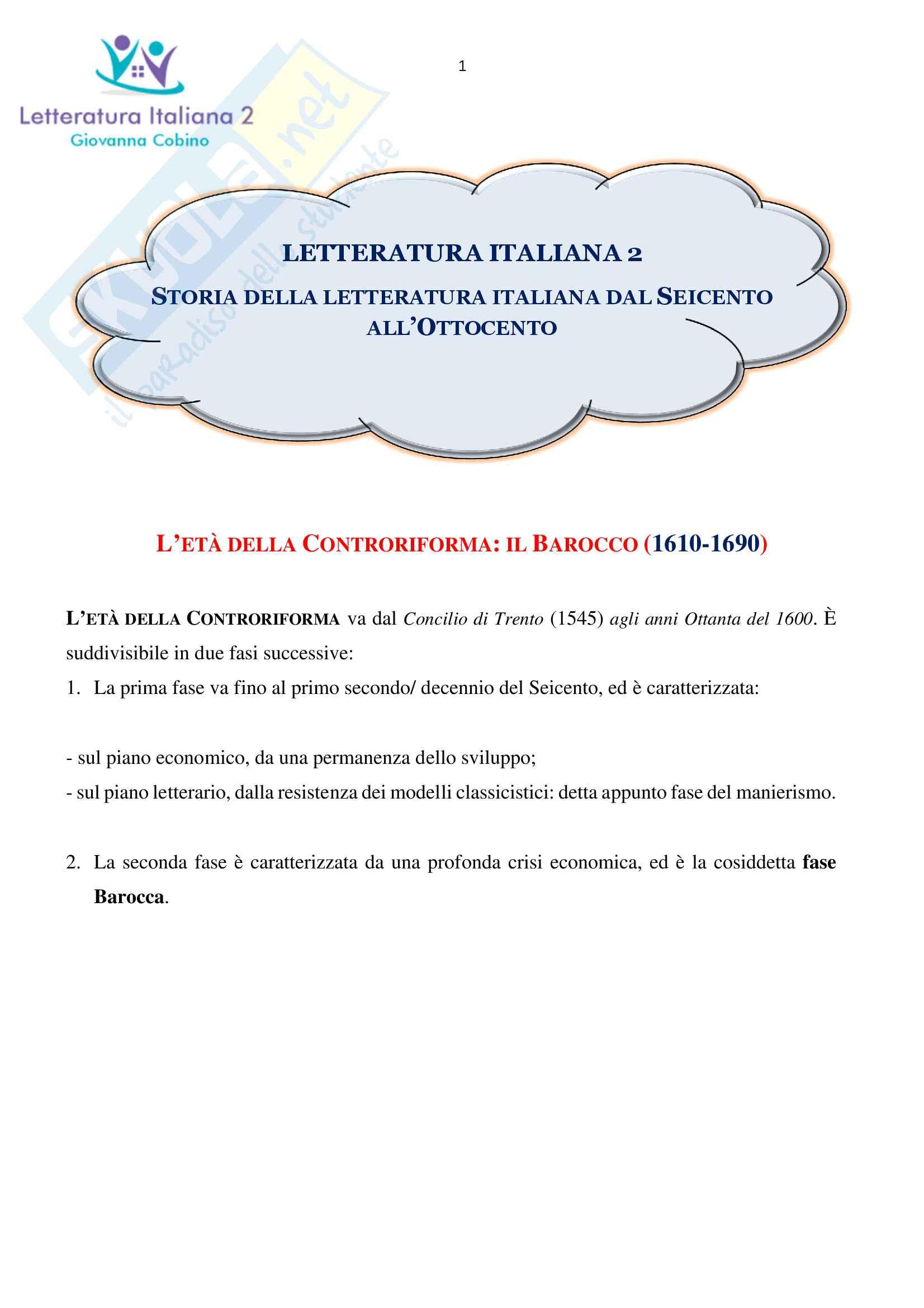 appunto P. Sabbatino Letteratura italiana
