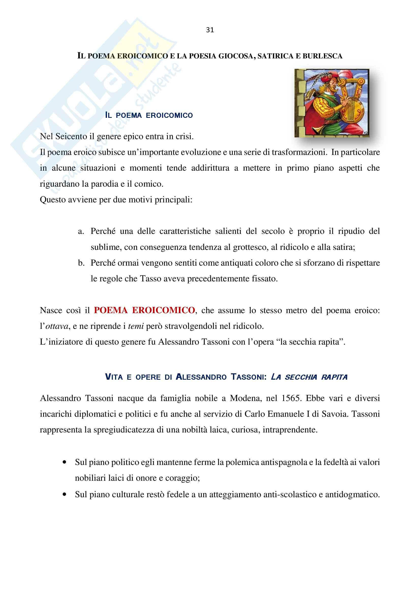 Letteratura Italiana 2 Pag. 31