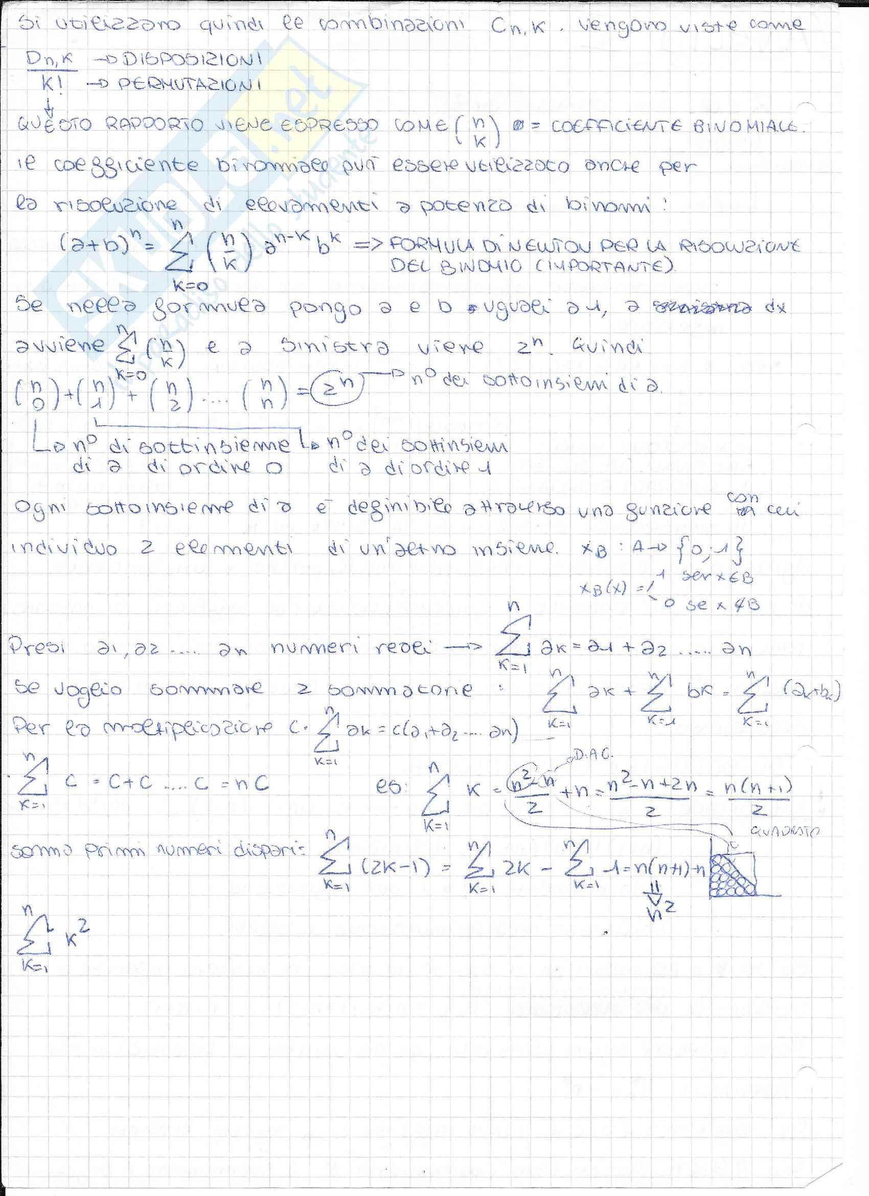 Analisi 1: Appunti completi con dimostrazioni Pag. 2