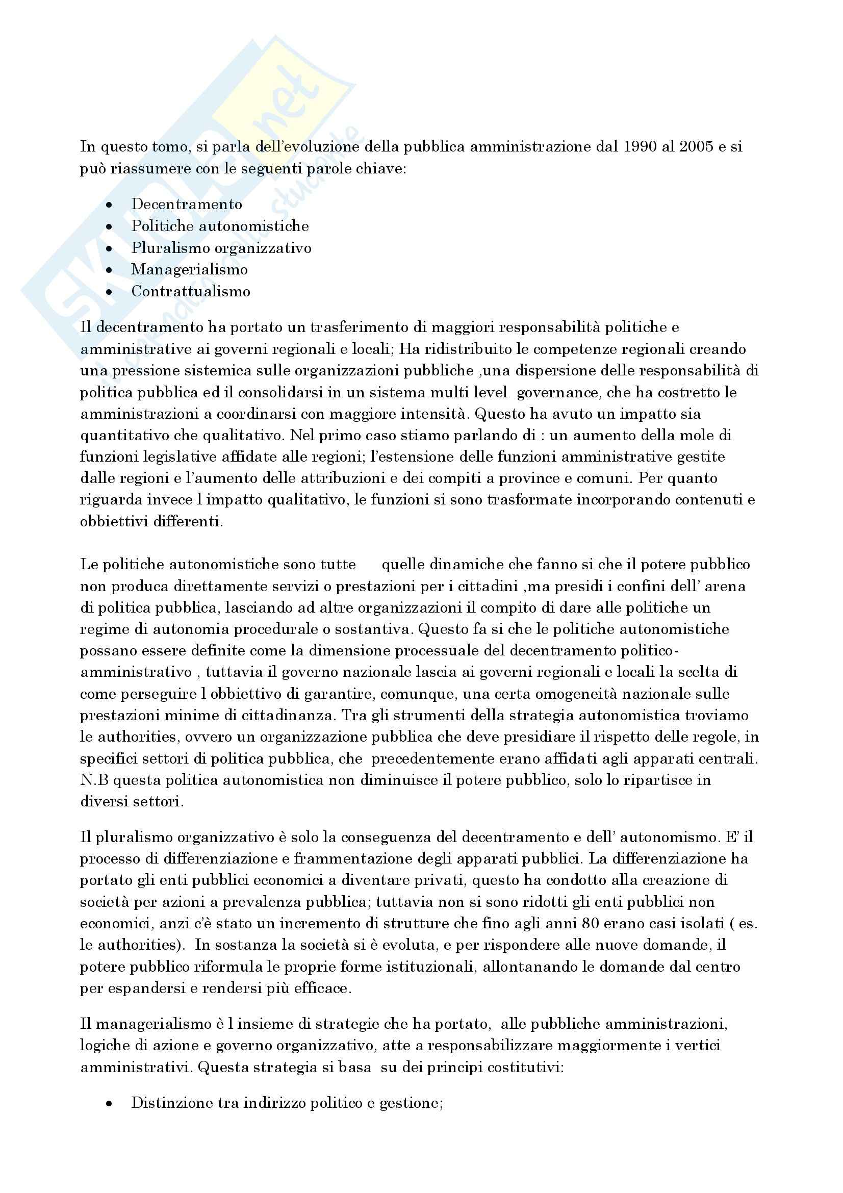 Riassunto esame Scienza dell'Amministrazione, prof. Rombi, libro consigliato La Pubblica Amministrazione in Italia, Capano, Gualmini