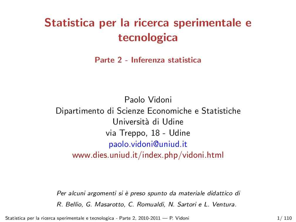 Inferenza statistica