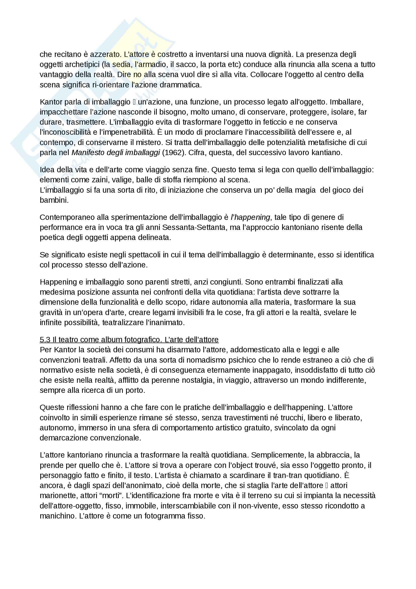 Riassunto esame Spettacolo, prof. Garavaglia, libro consigliato La regia teatrale del secondo Novecento, Zanlonghi Pag. 16