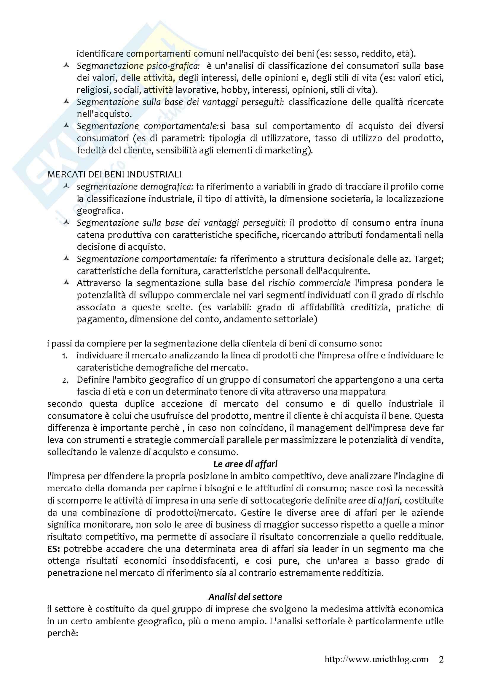 Riassunto esame Imprenditorialità, prof. Schillaci, libro consigliato Il business plan, Borello Pag. 2