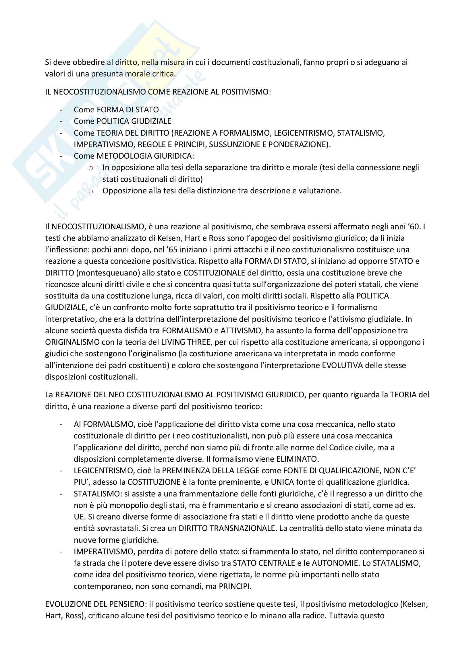 Appunti filosofia del diritto (Secondo compito) Pag. 6