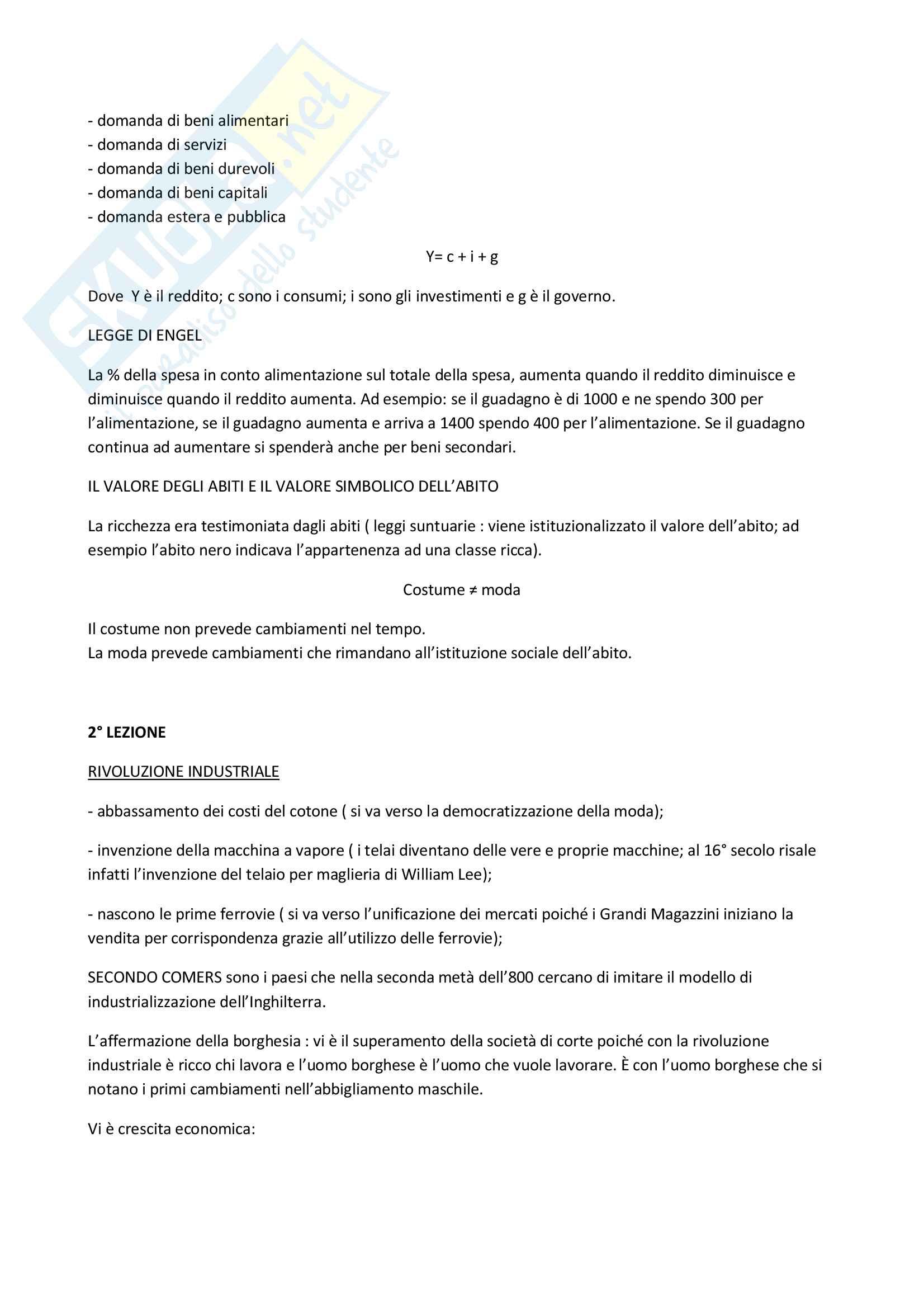 Appunti per esame di storia dell'industria della moda, Prof.essa Capalbo Pag. 2