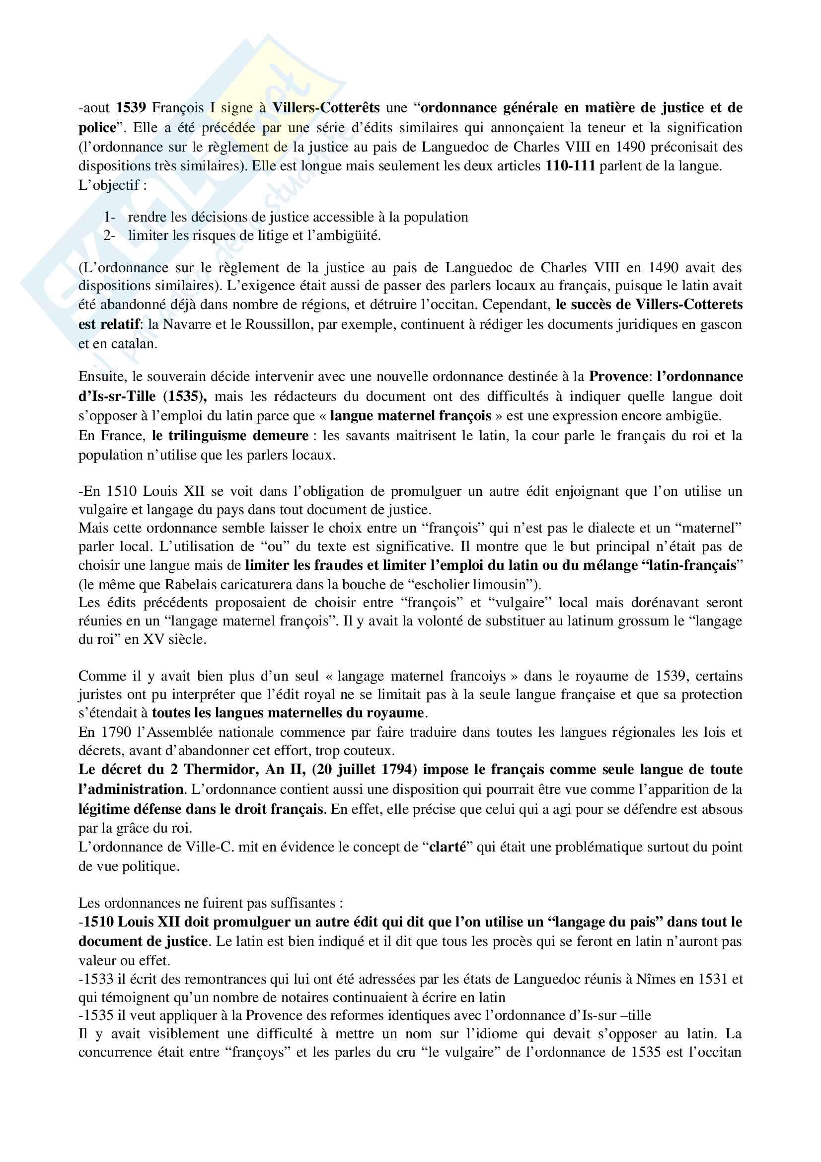 Riassunto esame di Linguistica Francese II, professoressa Di Pietro Pag. 11