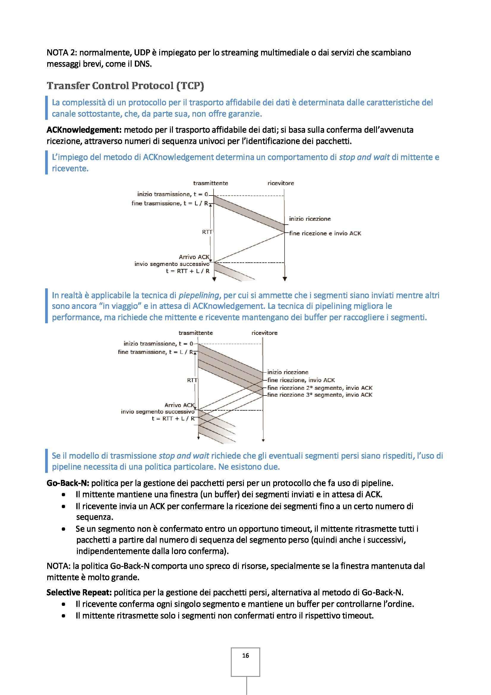 Reti di calcolatori - Appunti Pag. 16