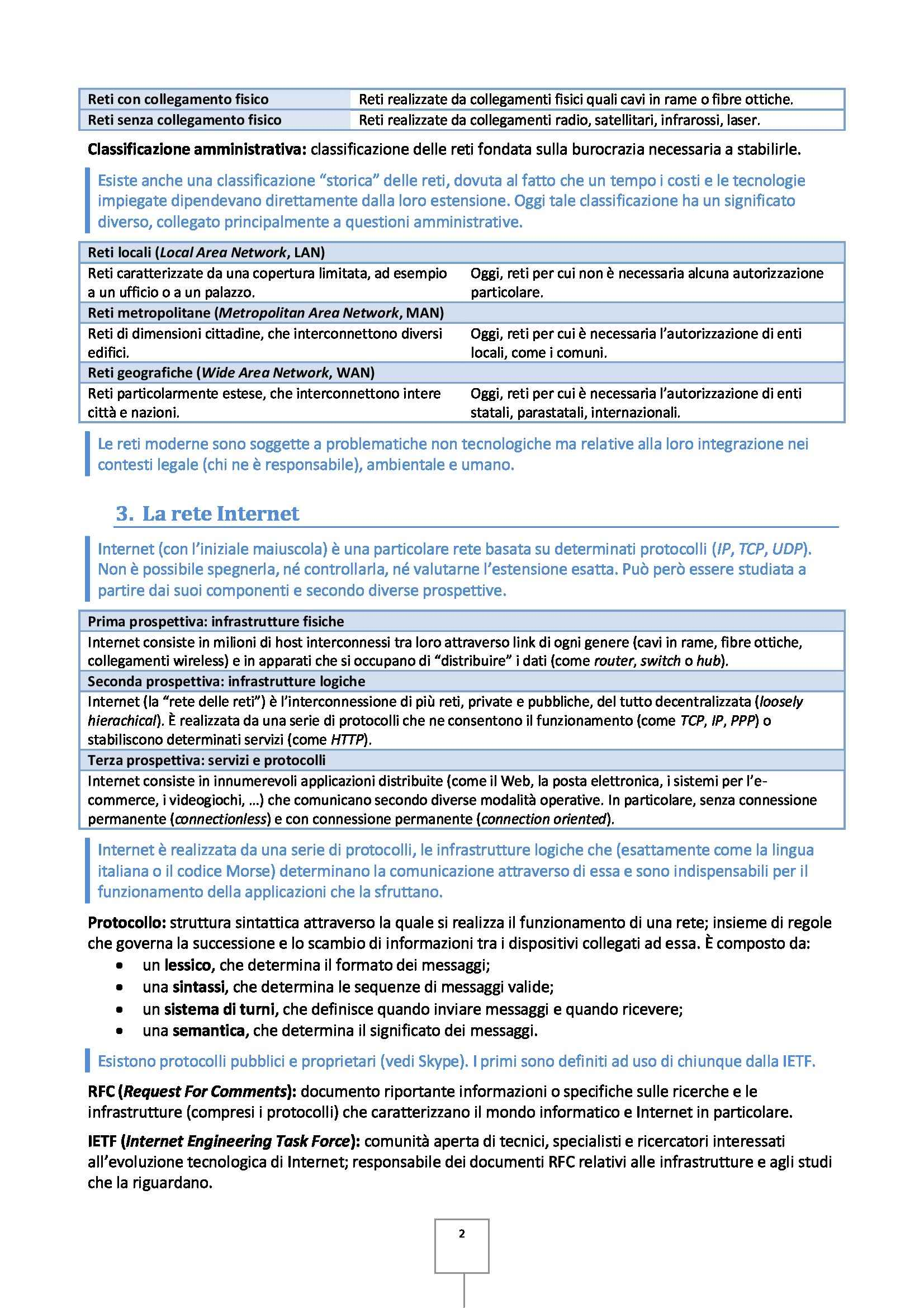 Reti di calcolatori - Appunti Pag. 2