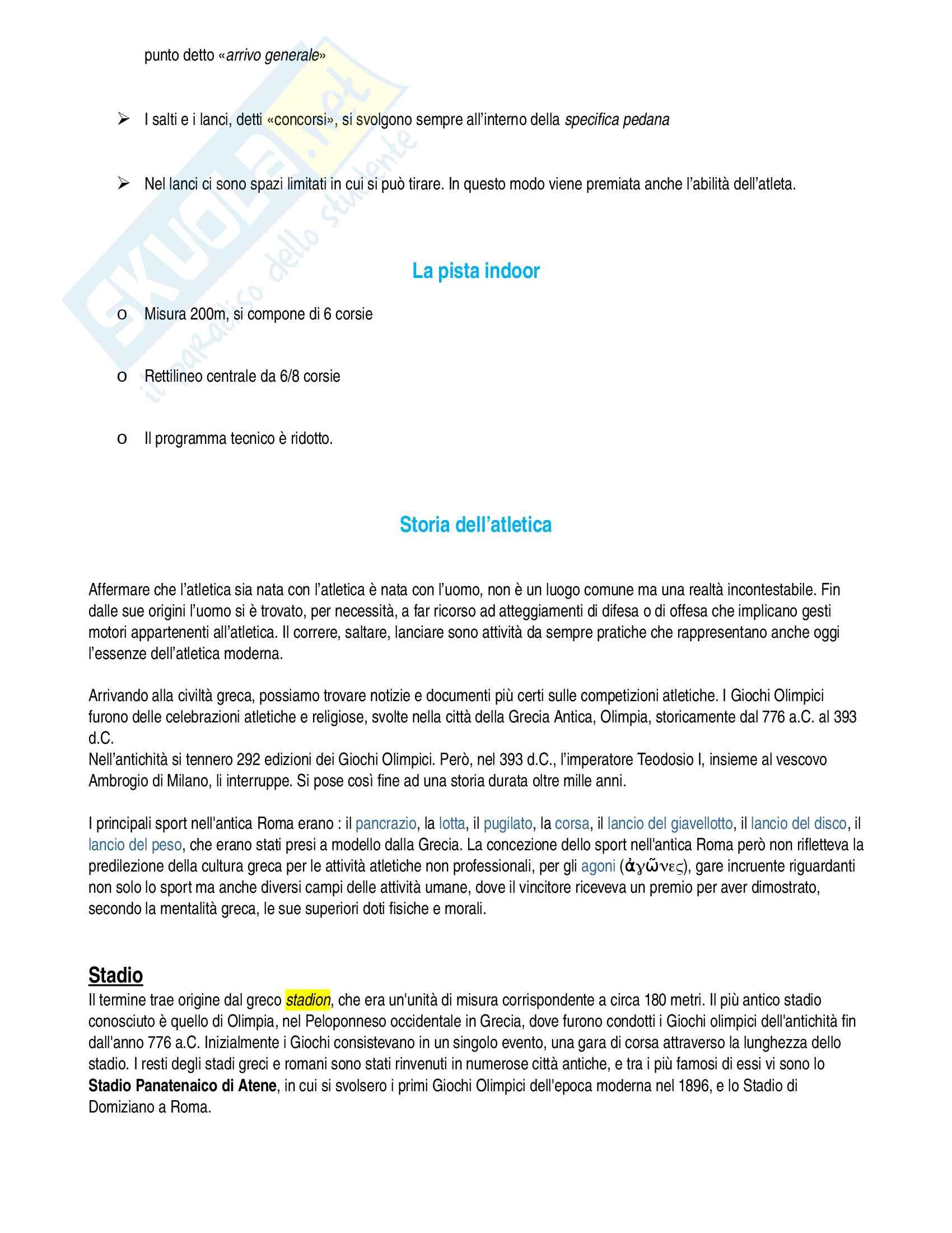 Atletica leggera Pag. 2