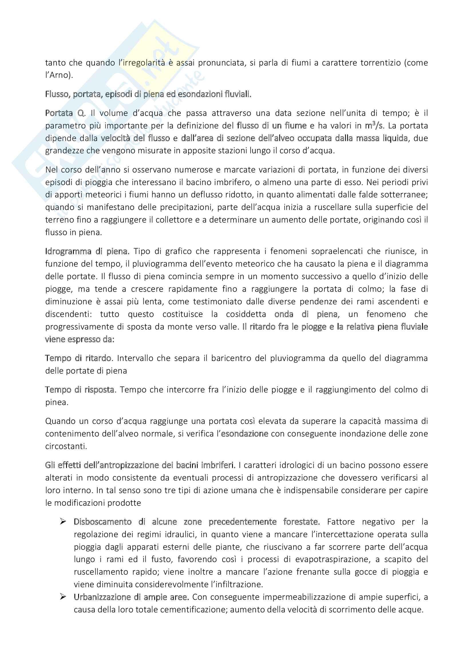 Riassunto esame Geografia del paesaggio e dell'ambiente, prof. Pinna Sergio, libro consigliato Geografia dei rischi naturali, S. Pinna Pag. 21
