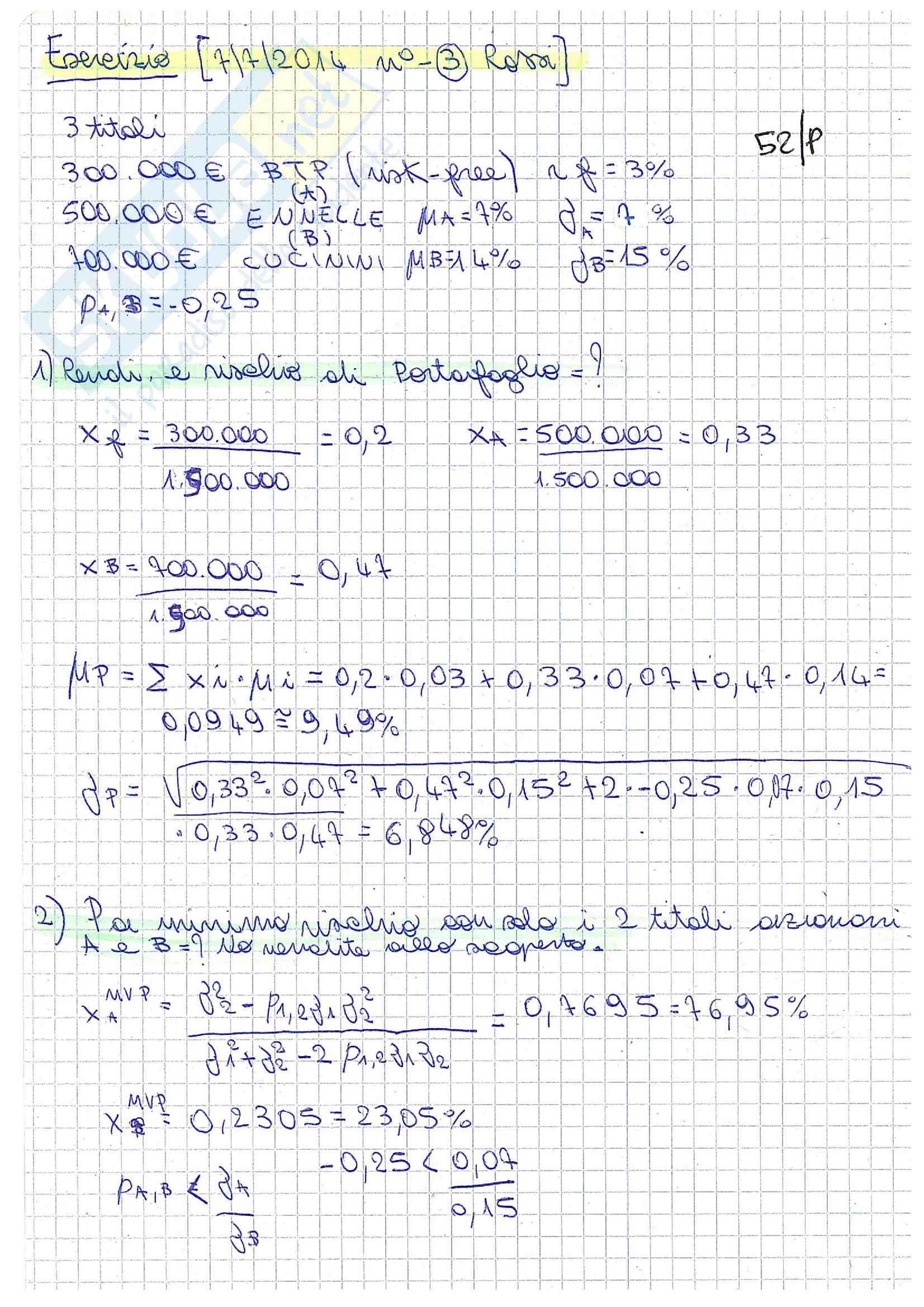 Matematica finanziaria 3 Pari B Pag. 6