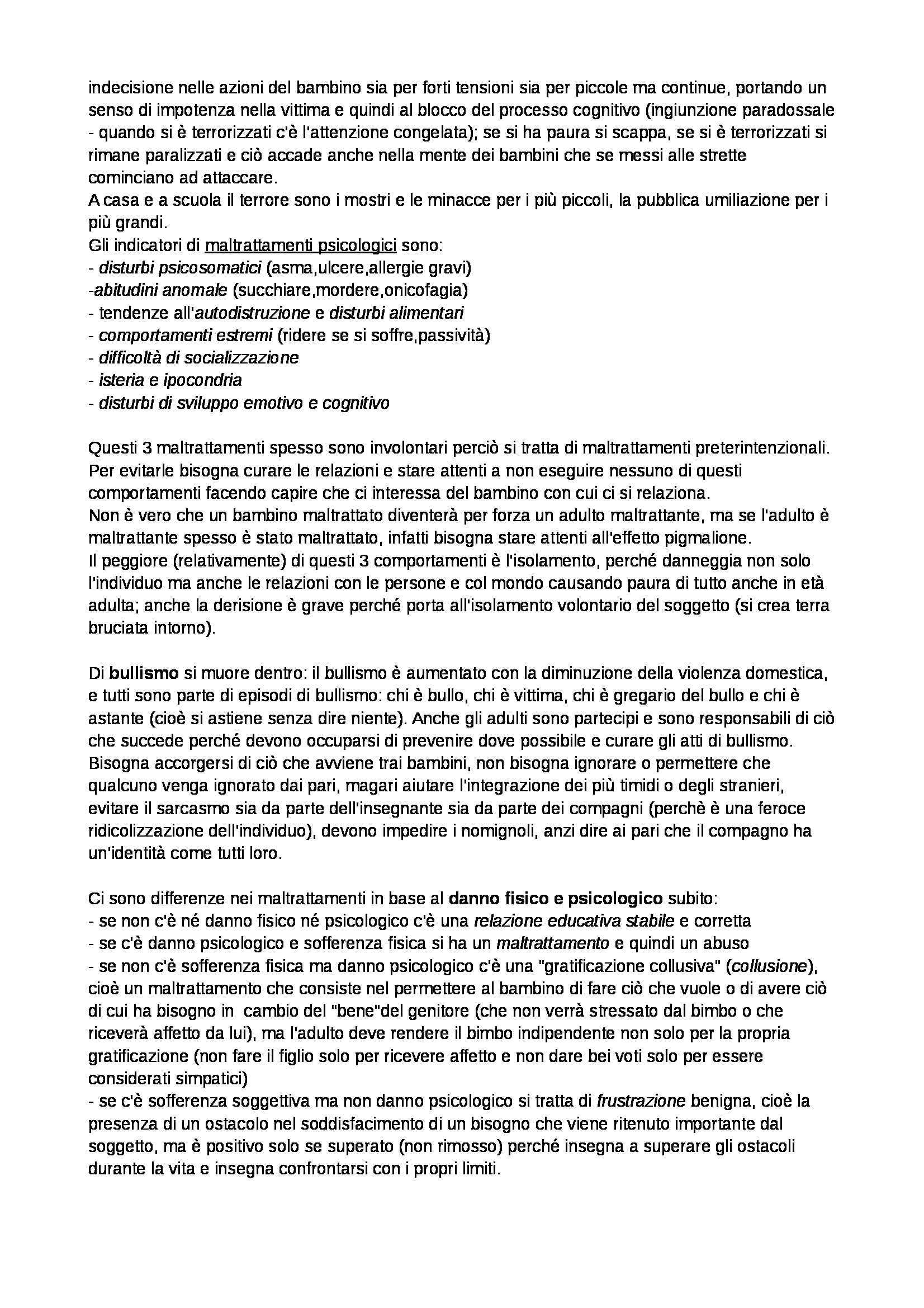 Riassunto esame Pedagogia generale, prof. Mariani, libro consigliato La scuola può fare molto ma non può fare tutto Pag. 21