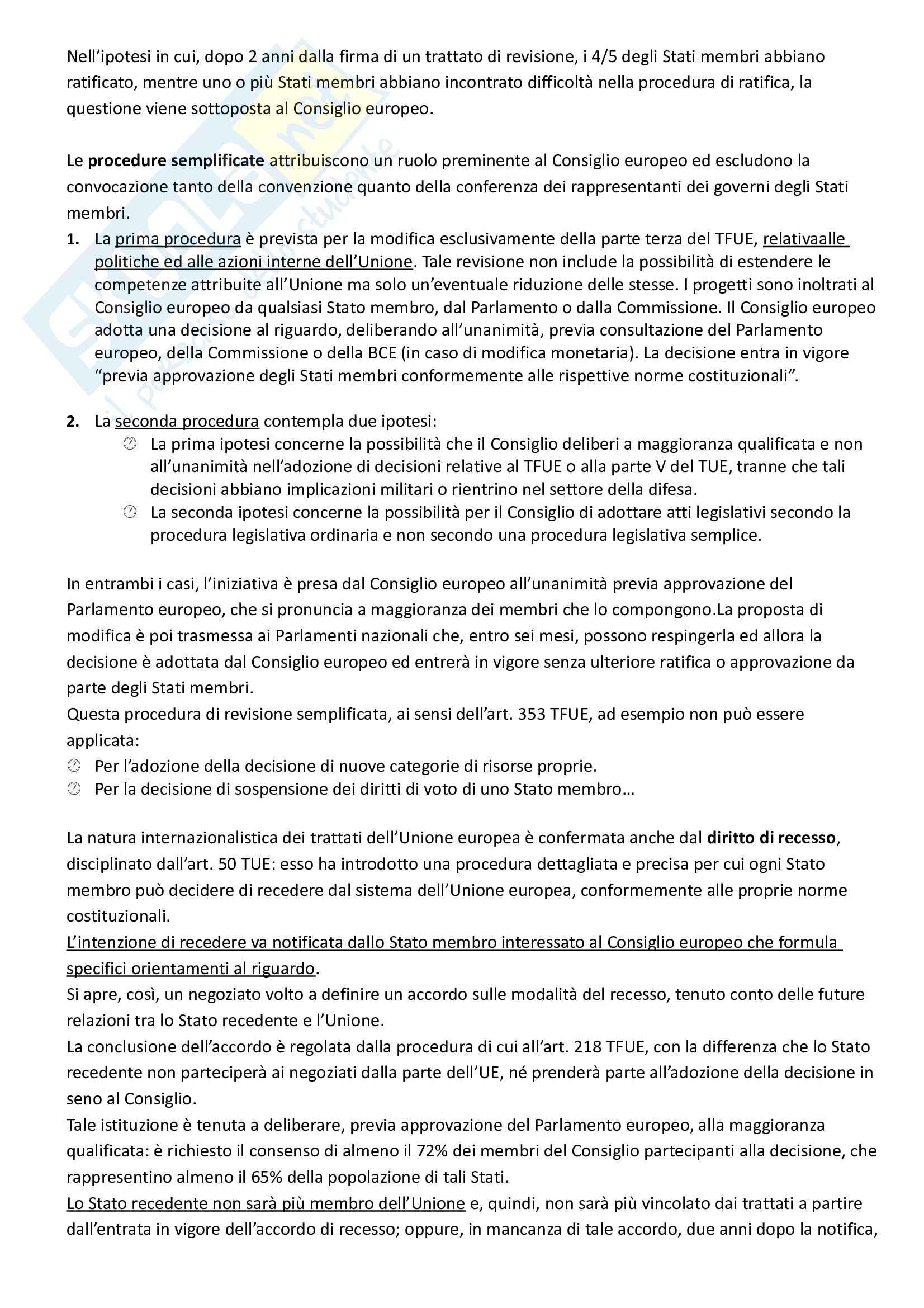 Riassunto esame Diritto dell'Unione Europea, prof. Di Federico, libro consigliato Diritto dell'Unione Europea, Tesauro Pag. 26