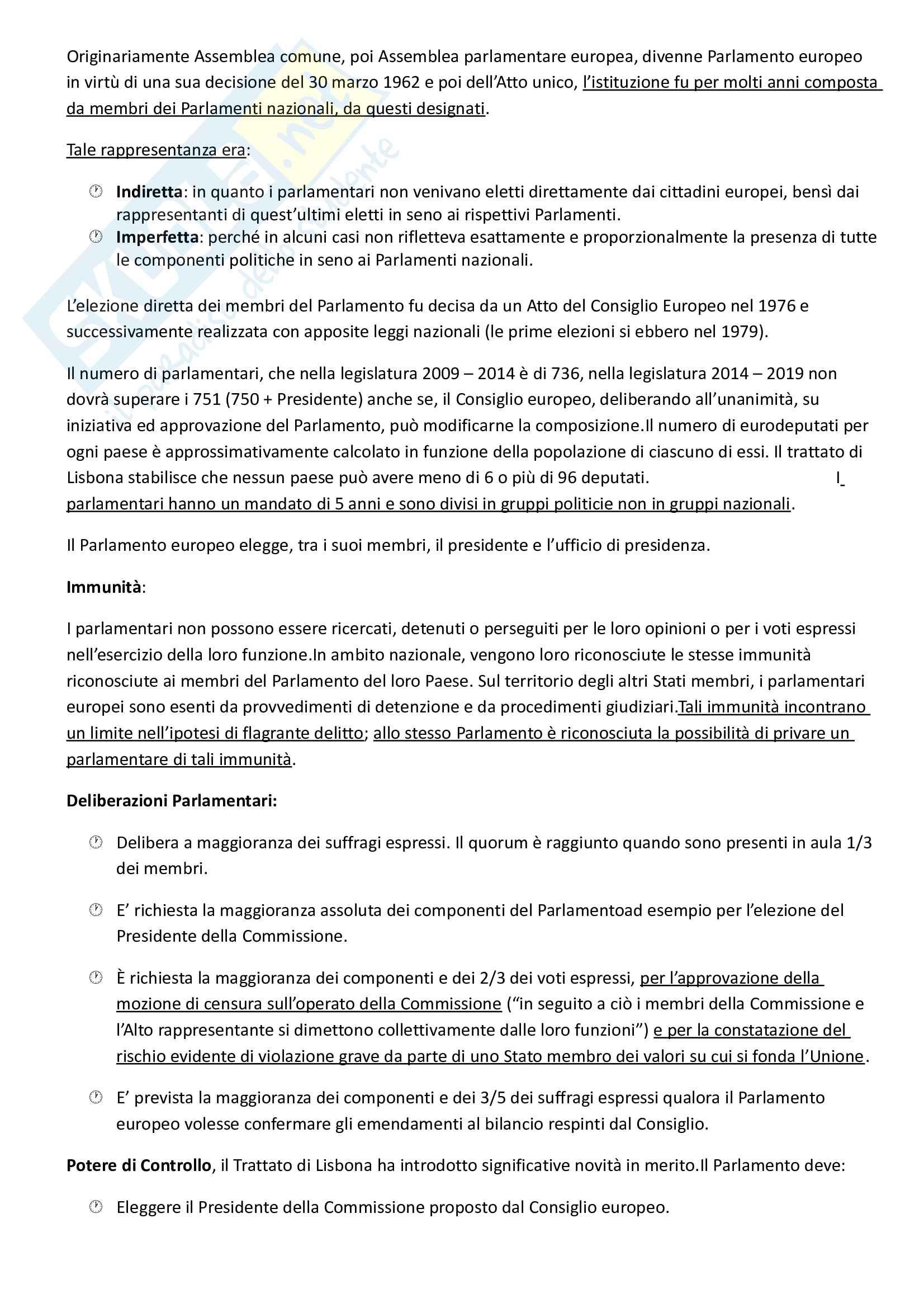 Riassunto esame Diritto dell'Unione Europea, prof. Di Federico, libro consigliato Diritto dell'Unione Europea, Tesauro Pag. 6
