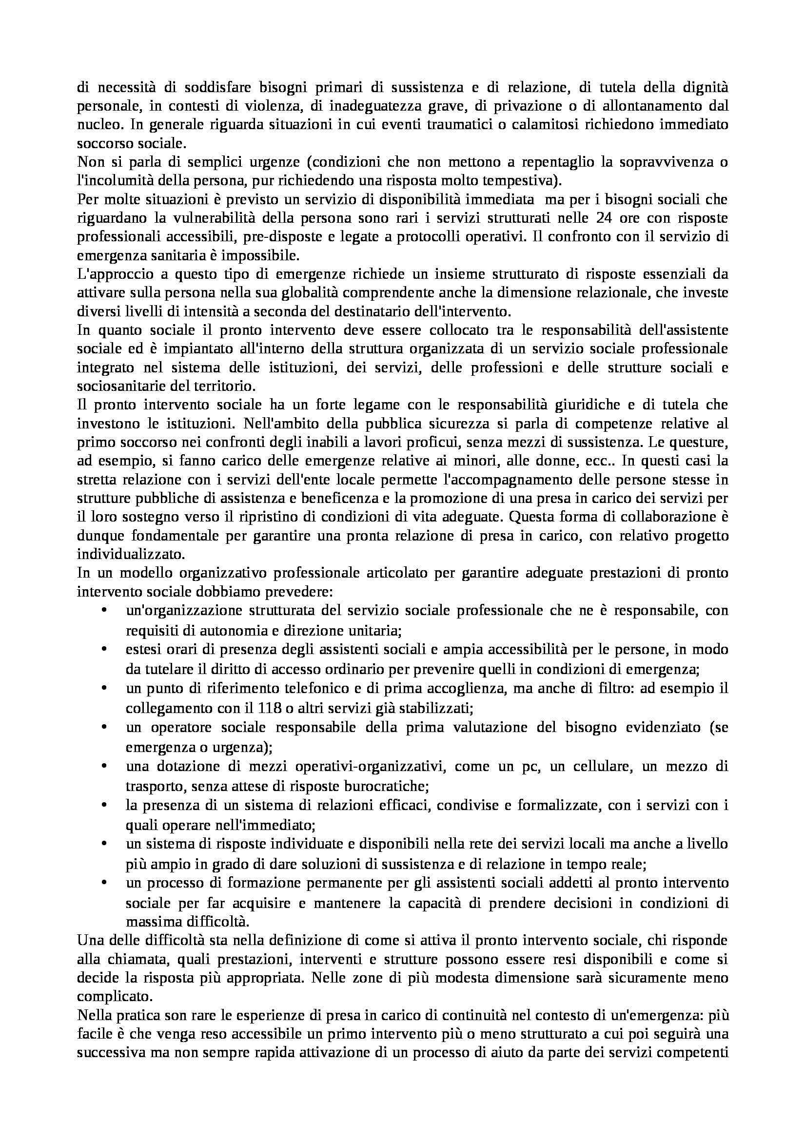 Organizzazione dei servizi sociali - nozioni generali Pag. 2