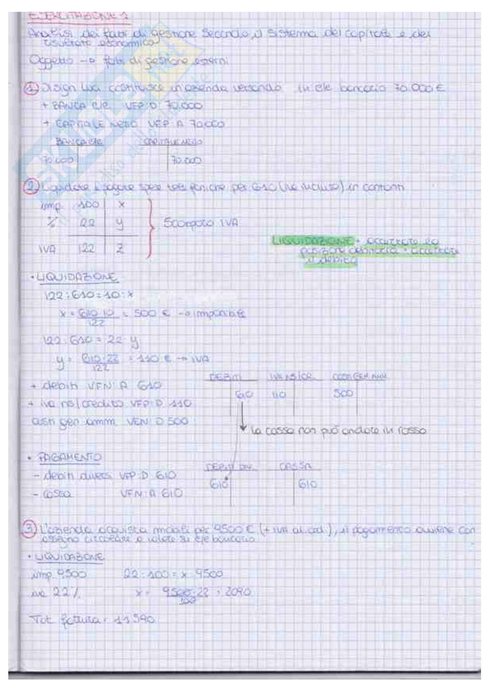 Economia Aziendale I Esercizi PDF