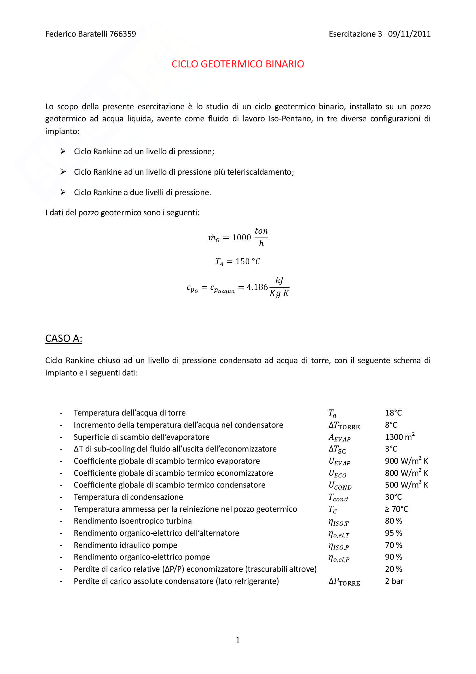 Produzione di potenza da fonti rinnovabili - esercitazioni complete Pag. 26