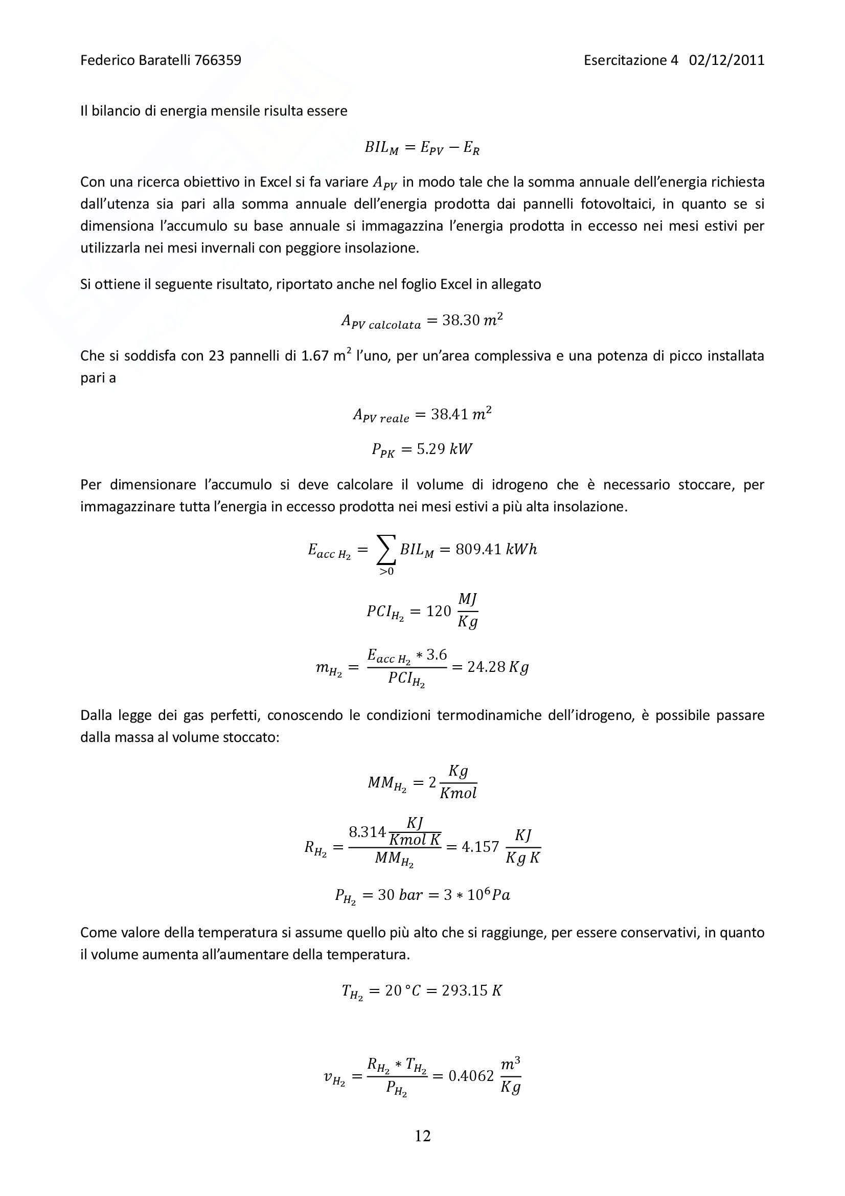 Produzione di potenza da fonti rinnovabili - esercitazioni complete Pag. 61