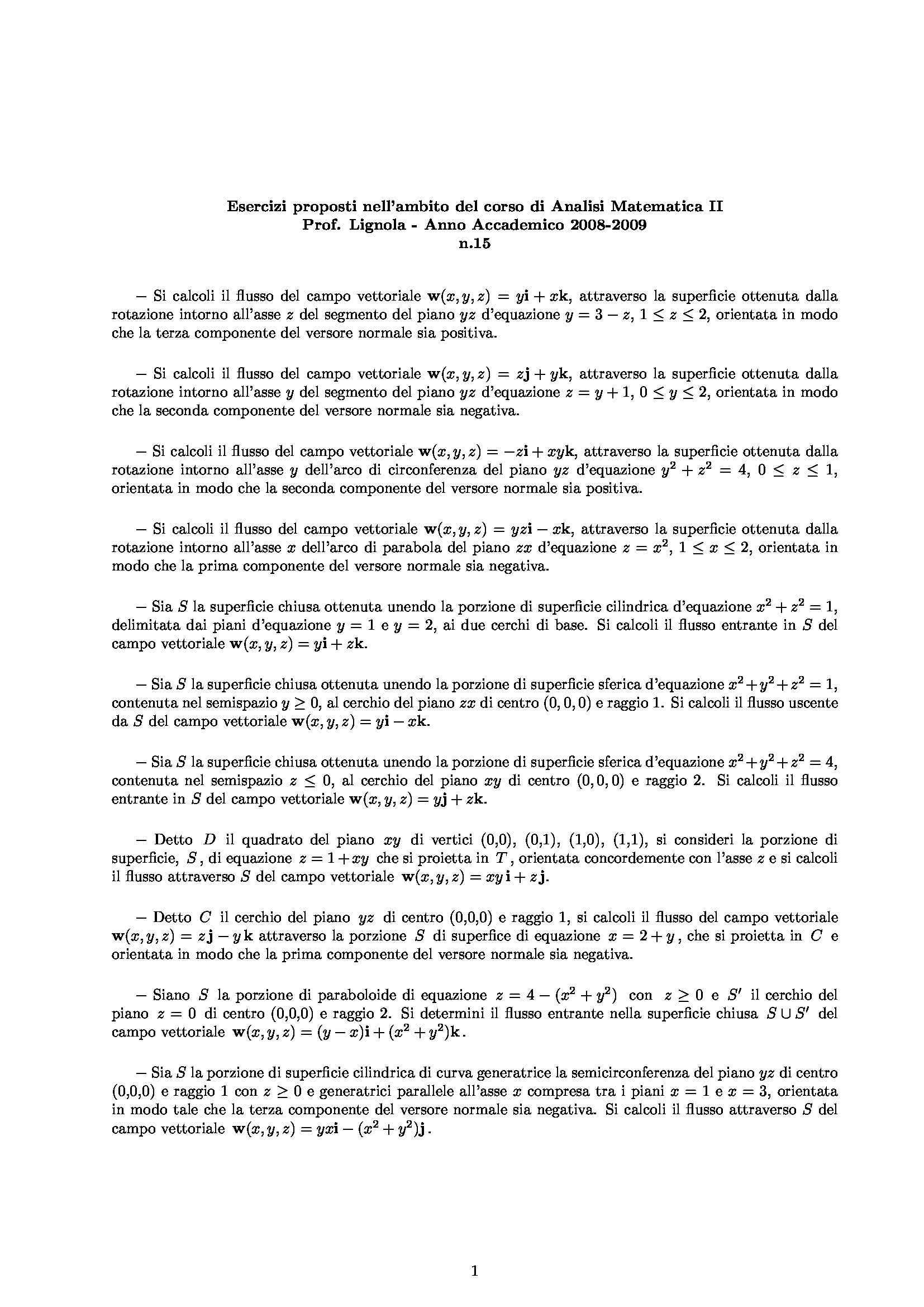 Analisi matematica II - Esercizio 13