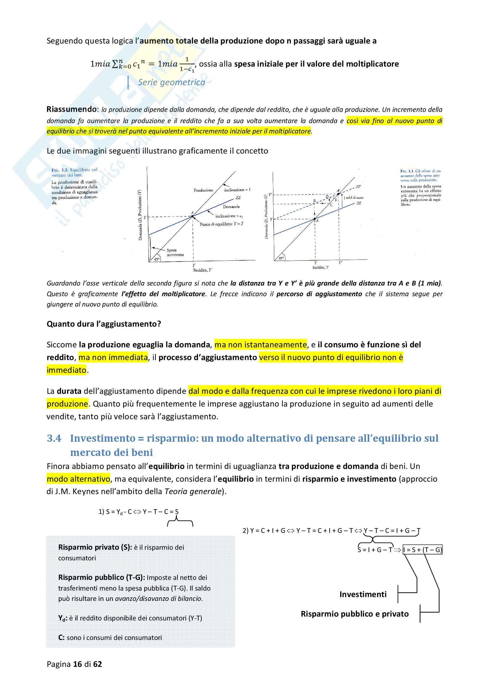 Riassunto esame Macroeconomia, prof. Blanchard, libro consigliato Macroeconomia Pag. 16
