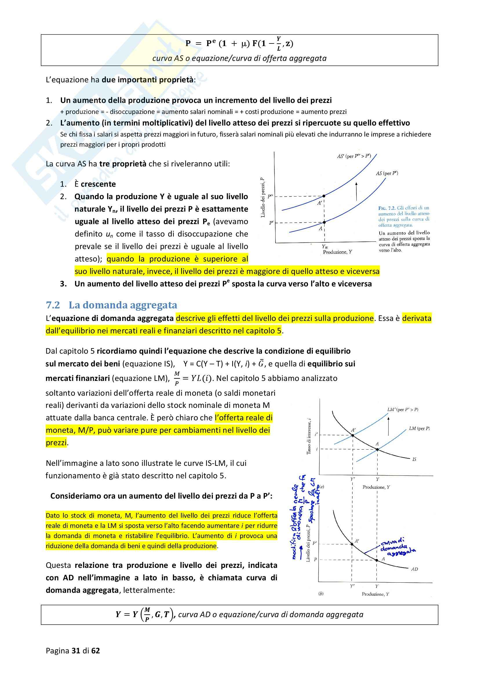 Riassunto esame Macroeconomia, prof. Blanchard, libro consigliato Macroeconomia Pag. 31
