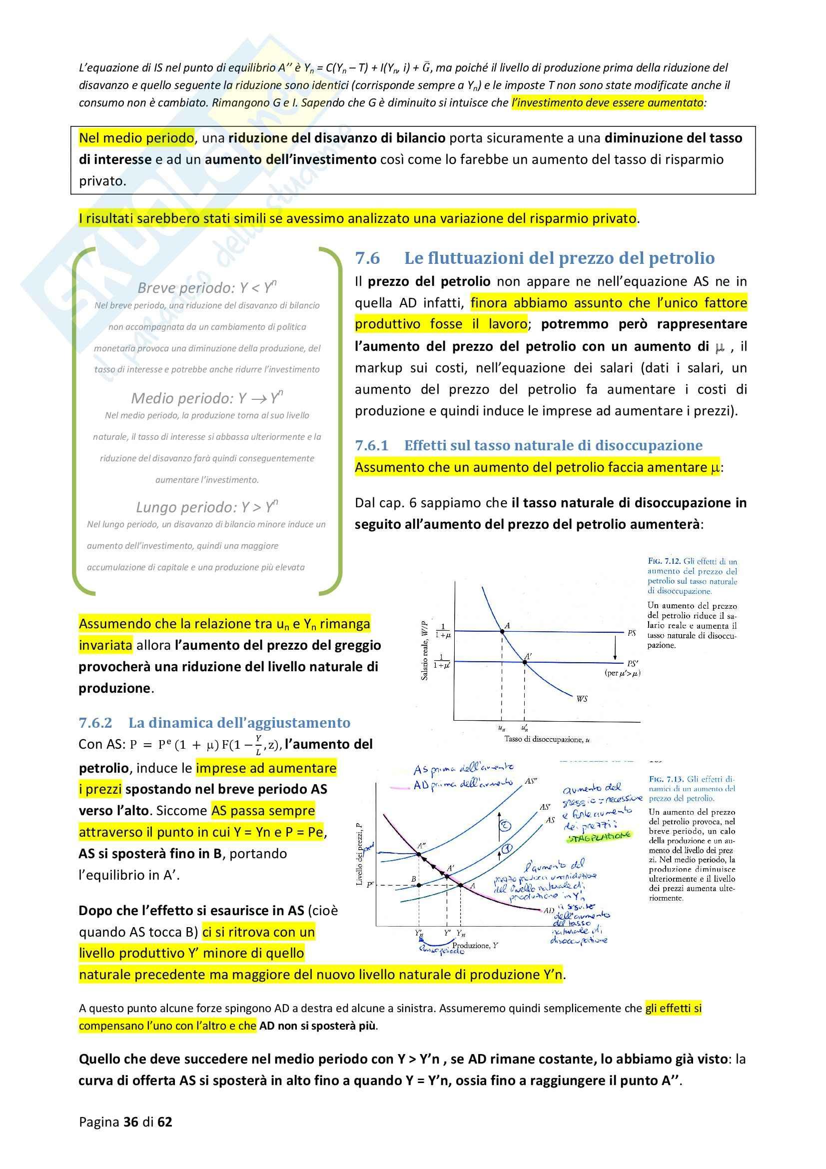 Riassunto esame Macroeconomia, prof. Blanchard, libro consigliato Macroeconomia Pag. 36