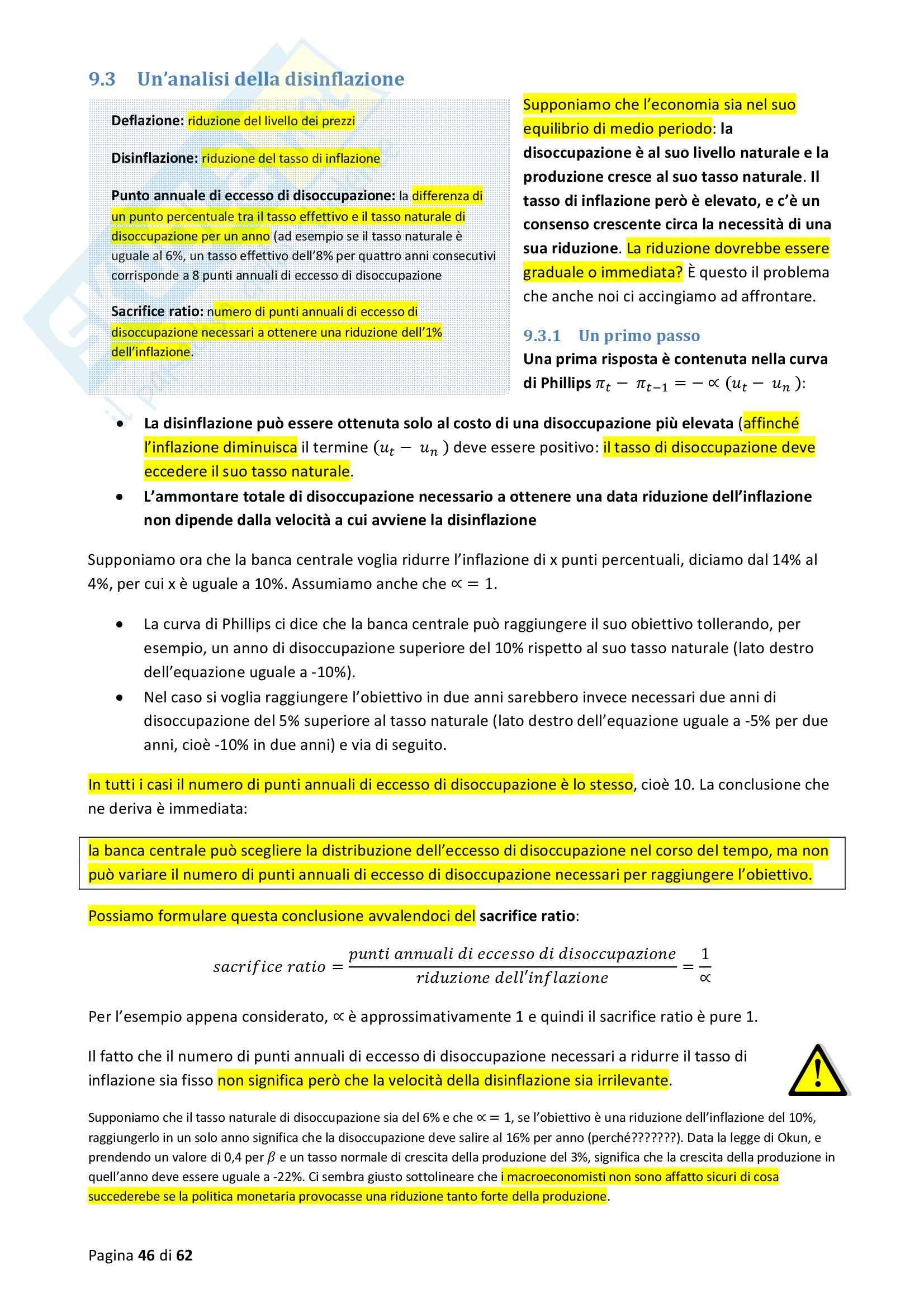Riassunto esame Macroeconomia, prof. Blanchard, libro consigliato Macroeconomia Pag. 46