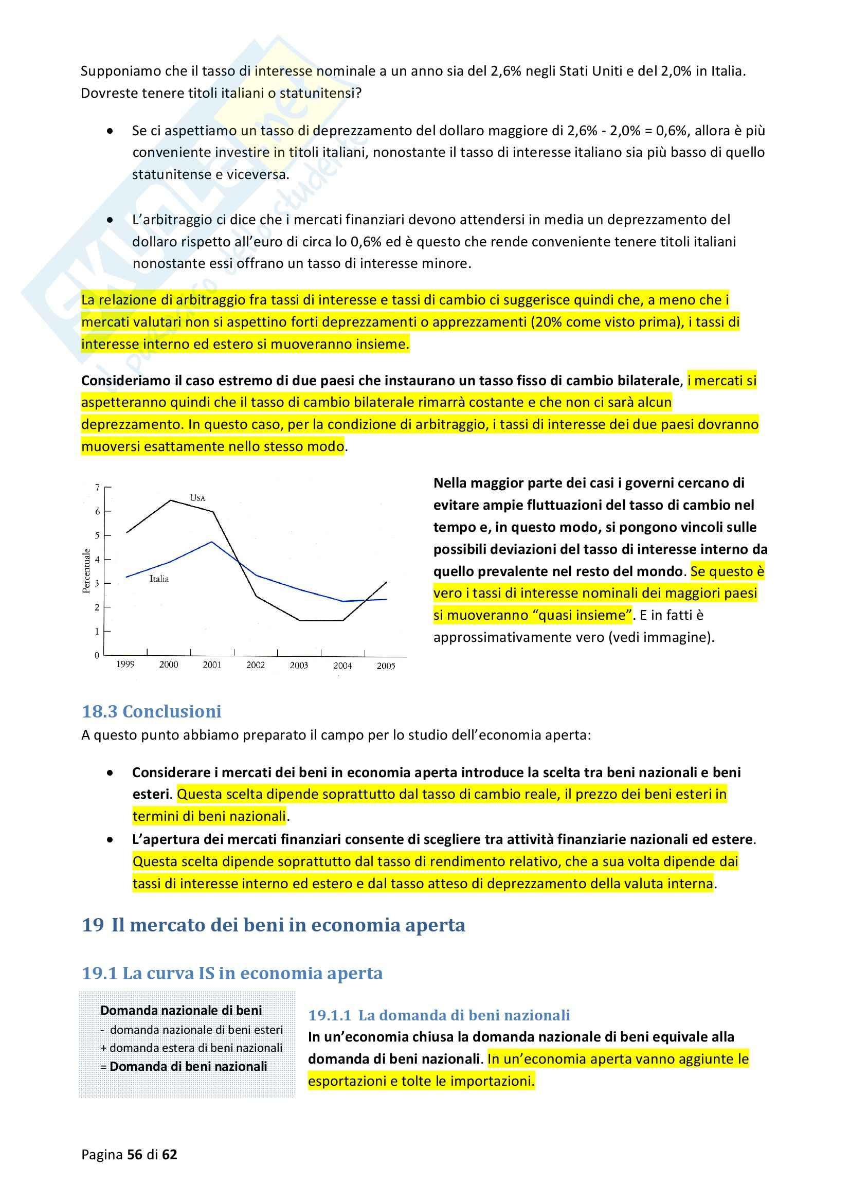 Riassunto esame Macroeconomia, prof. Blanchard, libro consigliato Macroeconomia Pag. 56