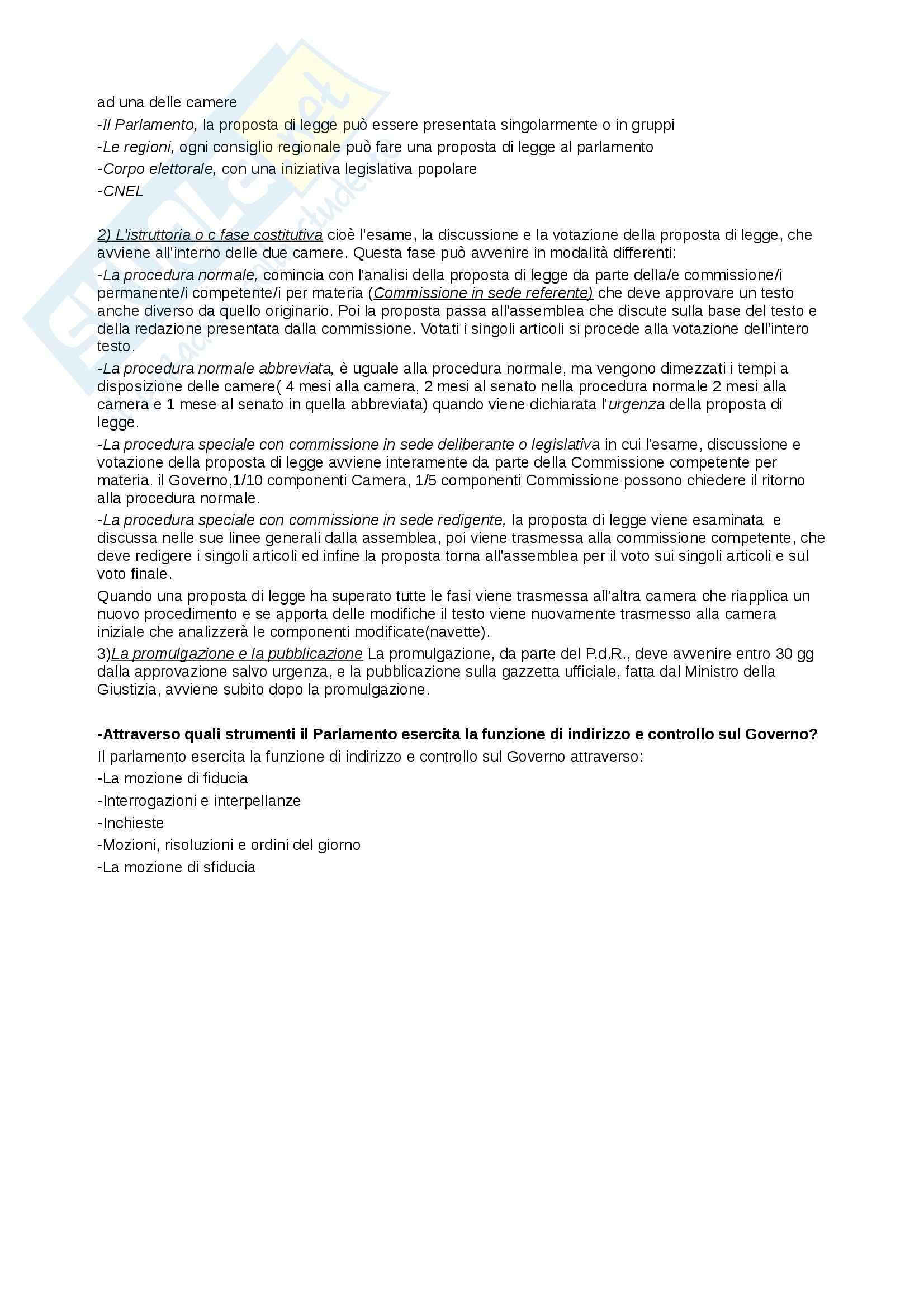 Riassunto esame Diritto Pubblico, prof. Cocco, libro consigliato Diritto Costituzionale e Pubblico, Caretti, De Siervo Pag. 11