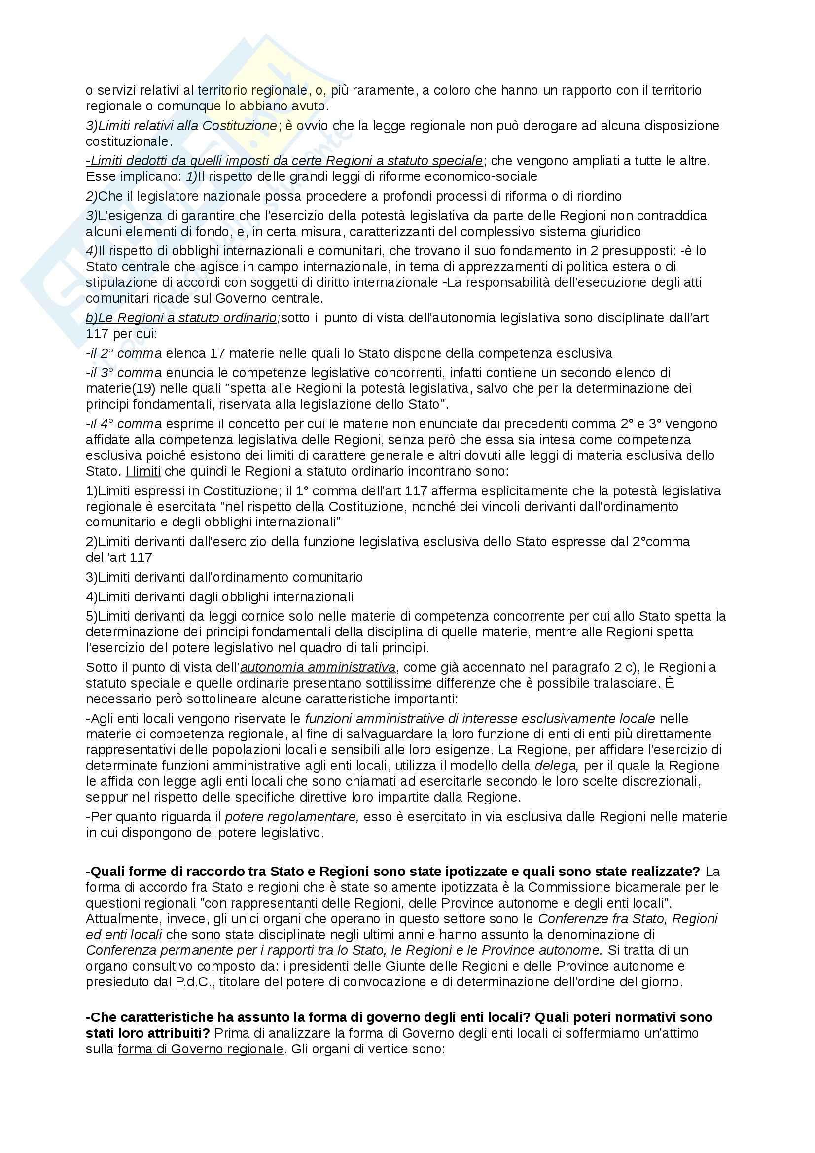 Riassunto esame Diritto Pubblico, prof. Cocco, libro consigliato Diritto Costituzionale e Pubblico, Caretti, De Siervo Pag. 31