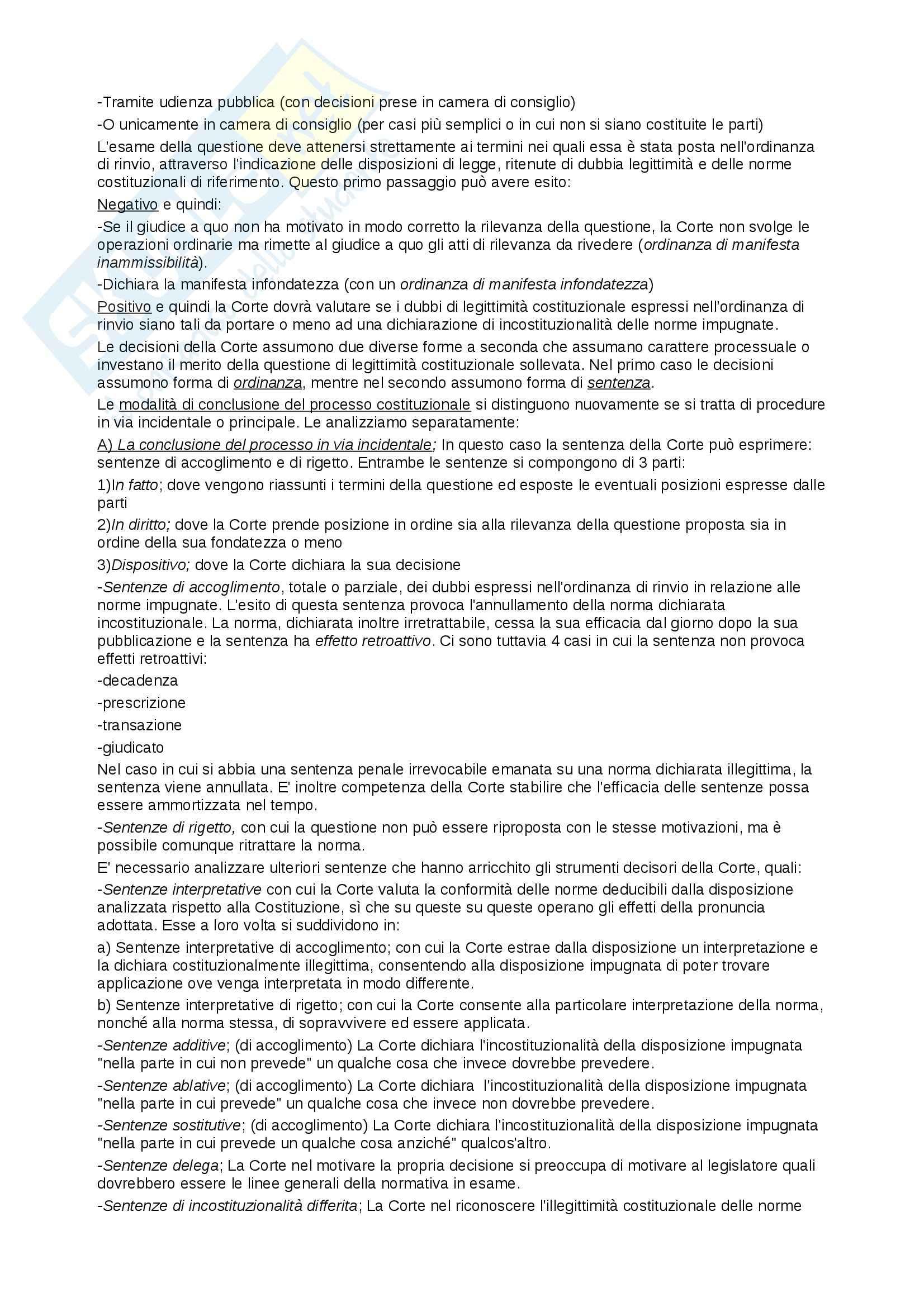 Riassunto esame Diritto Pubblico, prof. Cocco, libro consigliato Diritto Costituzionale e Pubblico, Caretti, De Siervo Pag. 36