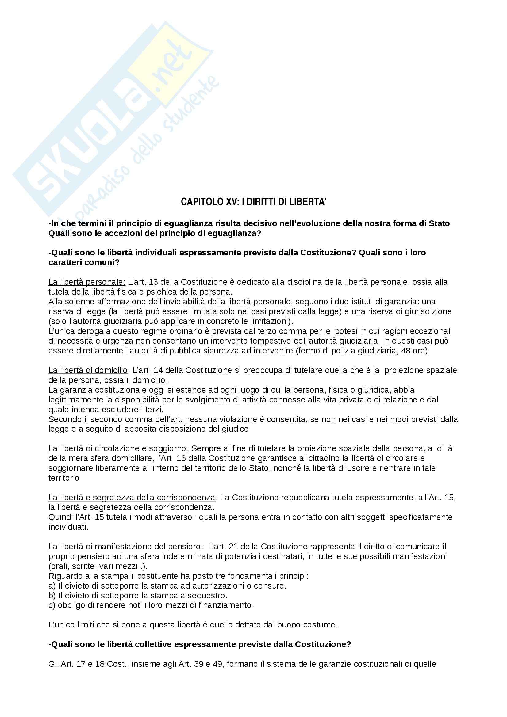 Riassunto esame Diritto Pubblico, prof. Cocco, libro consigliato Diritto Costituzionale e Pubblico, Caretti, De Siervo Pag. 41