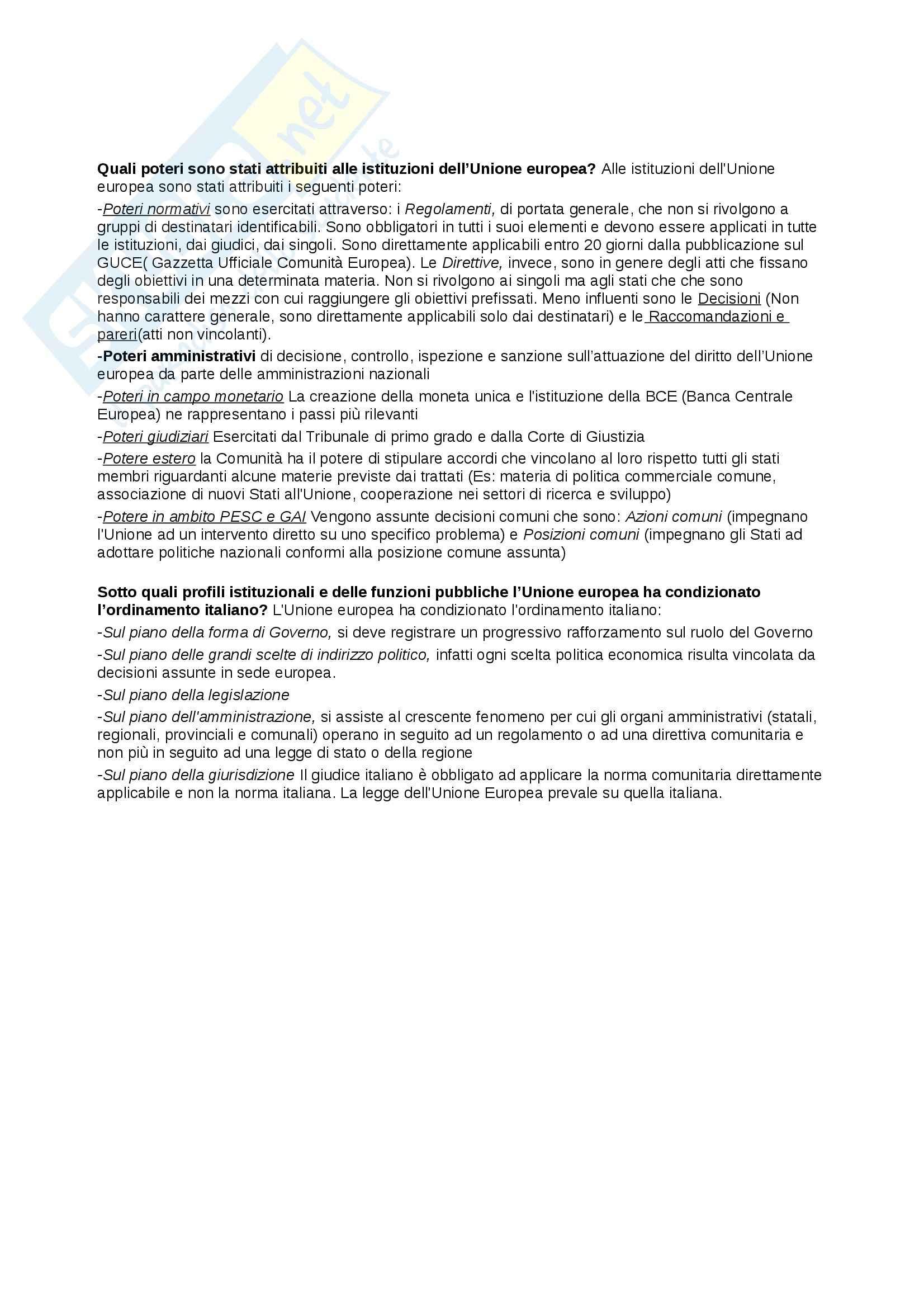 Riassunto esame Diritto Pubblico, prof. Cocco, libro consigliato Diritto Costituzionale e Pubblico, Caretti, De Siervo Pag. 6