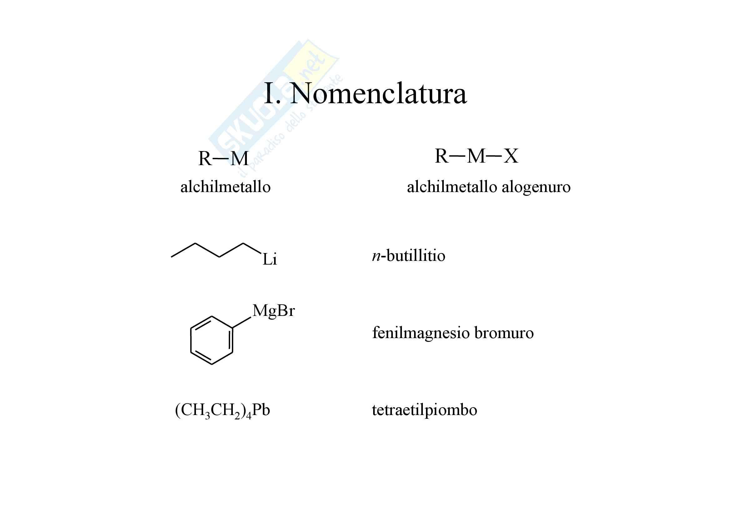 Chimica organica - composti organometallici Pag. 2