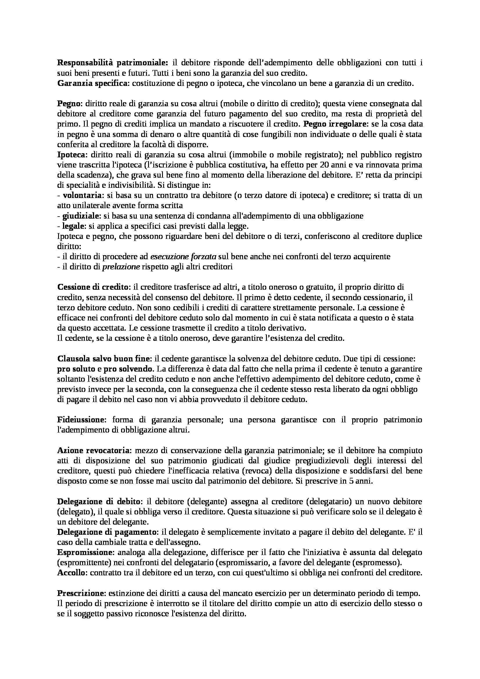 Riassunto esame Diritto Privato, prof. Costanza Pag. 21