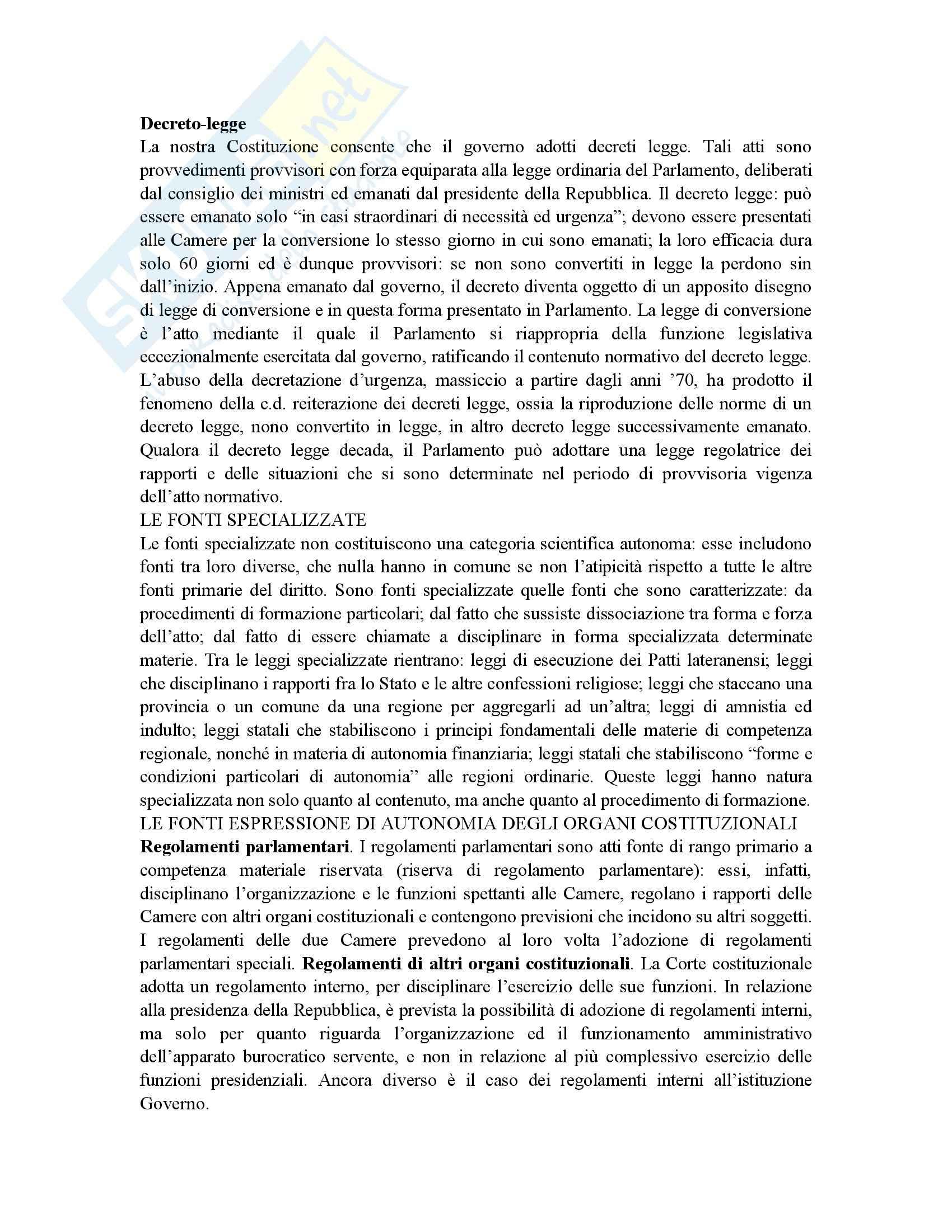 Riassunto esame Istituzioni di Diritto Pubblico, prof. Gnes, libro consigliato Corso di Diritto pubblico, Barbera, Fusaro Pag. 11