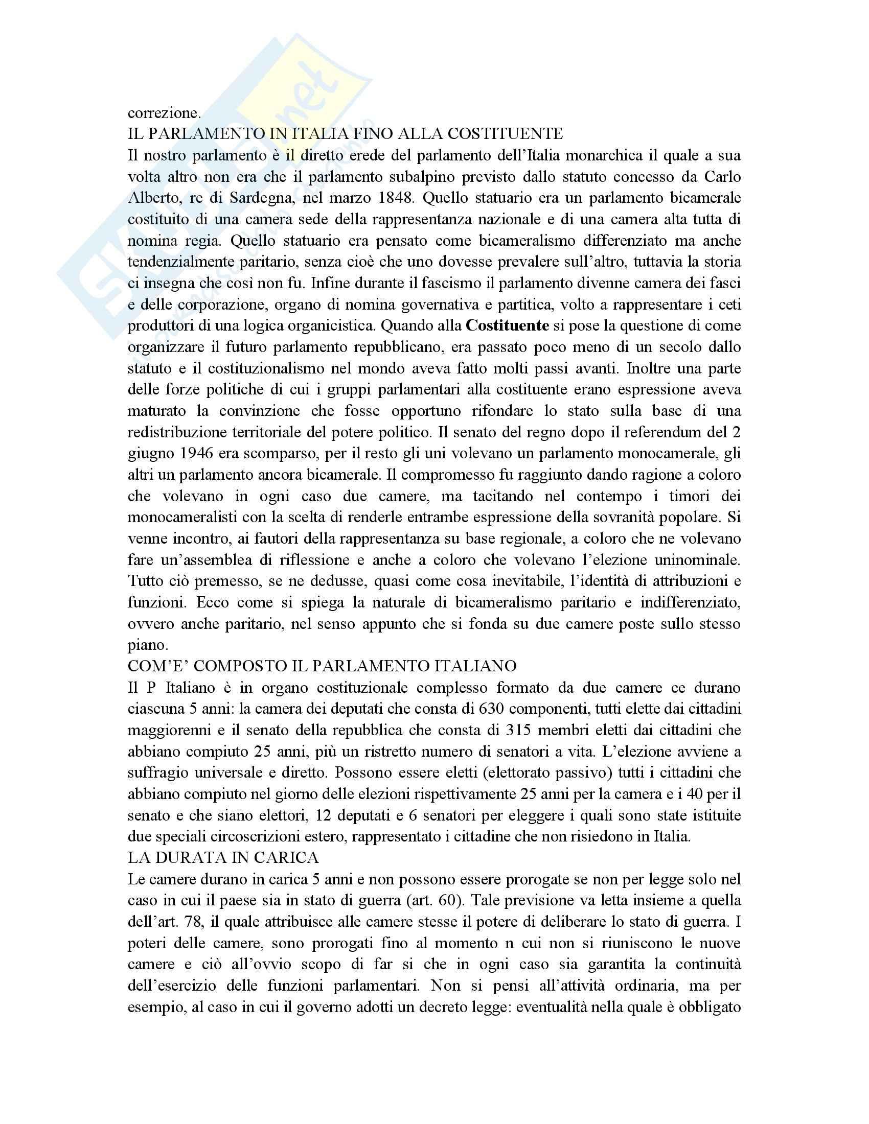 Riassunto esame Istituzioni di Diritto Pubblico, prof. Gnes, libro consigliato Corso di Diritto pubblico, Barbera, Fusaro Pag. 21