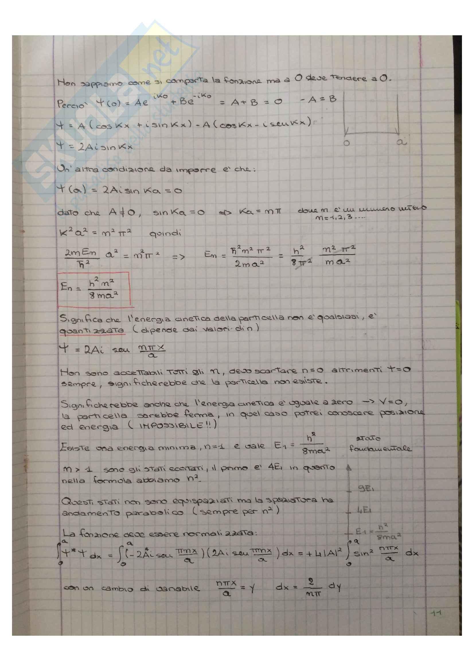 Appunti di Meccanica quantistica Pag. 11