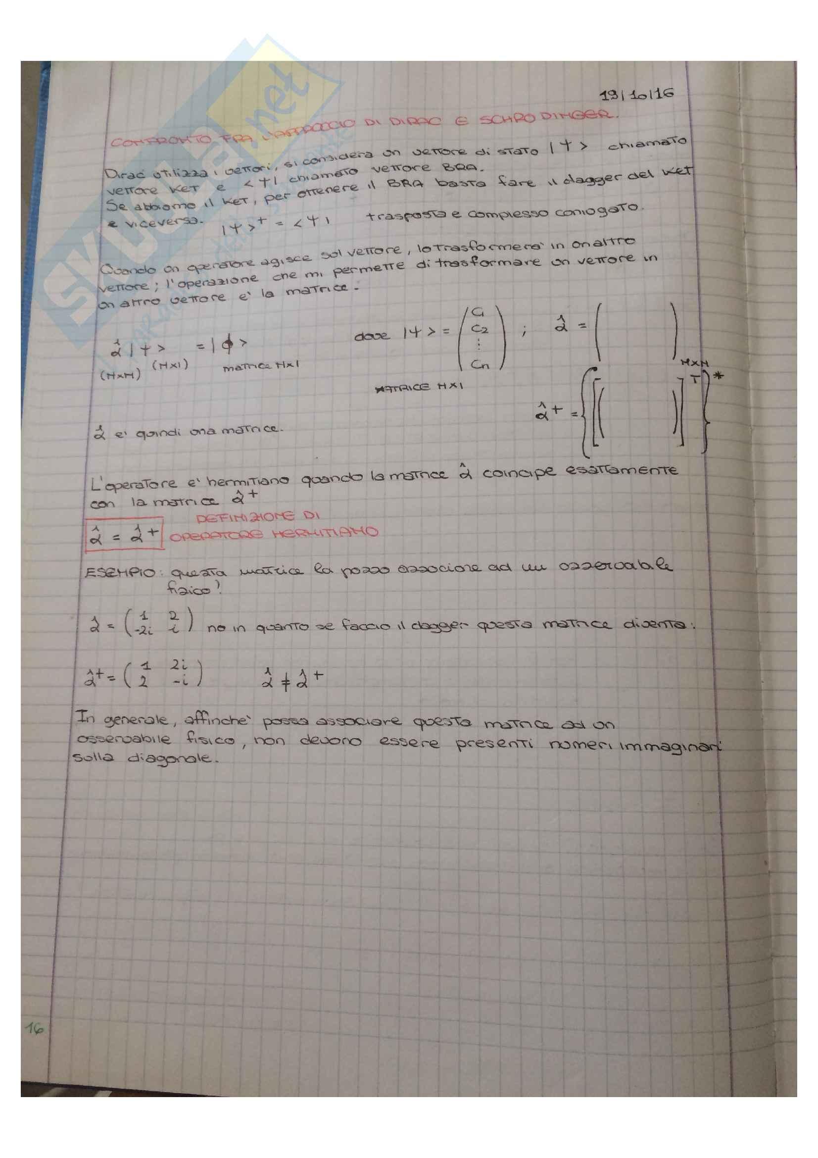 Appunti di Meccanica quantistica Pag. 16