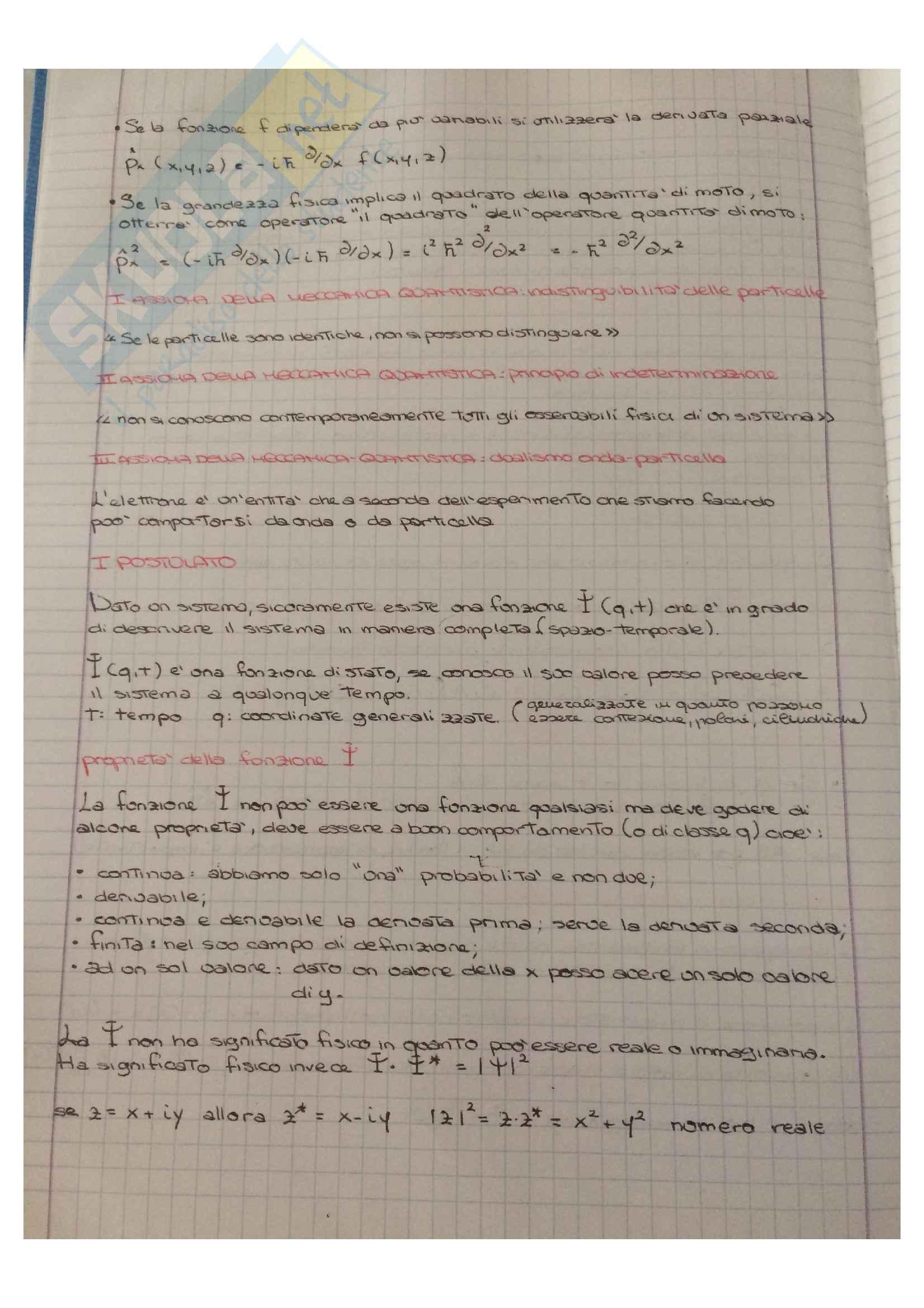 Appunti di Meccanica quantistica Pag. 2